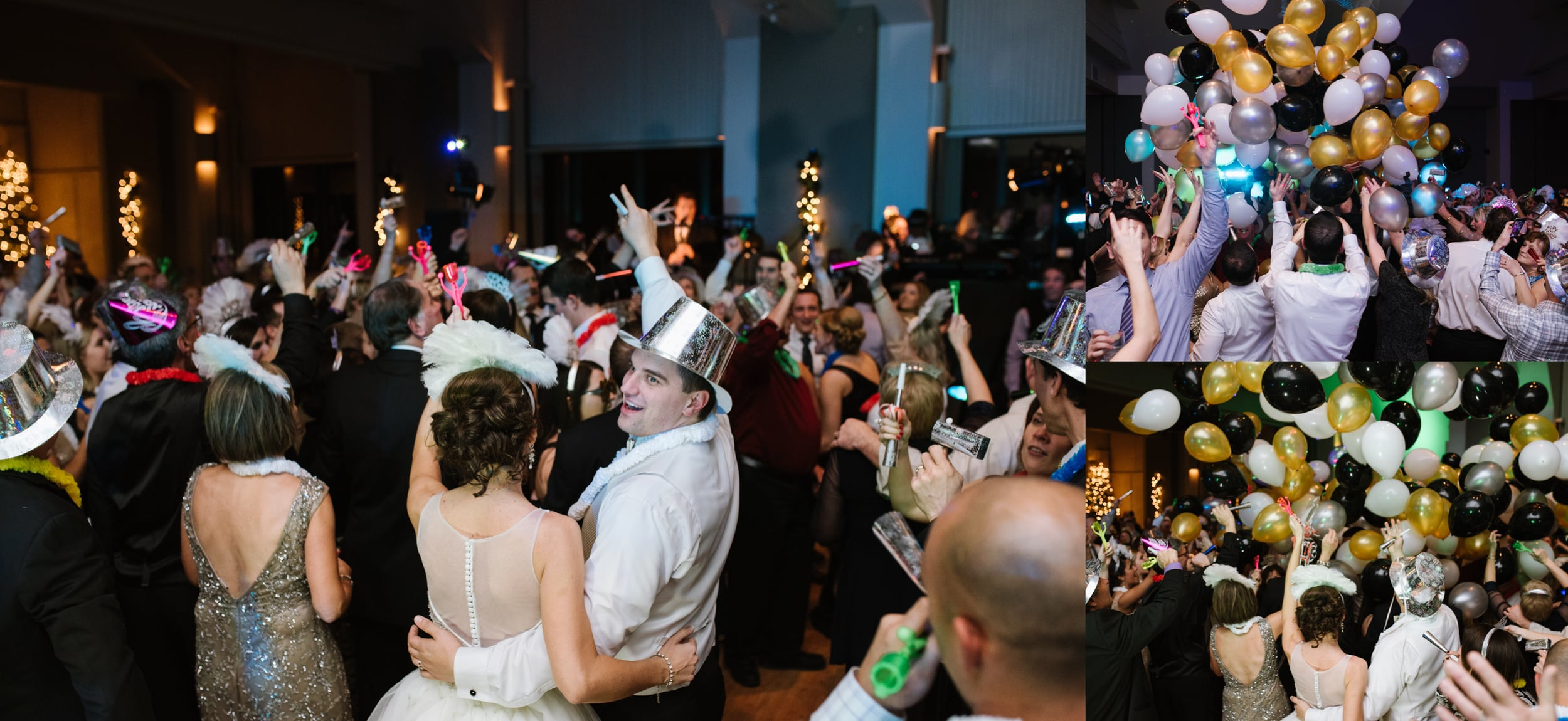 Chestnut Ridge Country Club New Year's Eve wedding, balloon drop .jpg