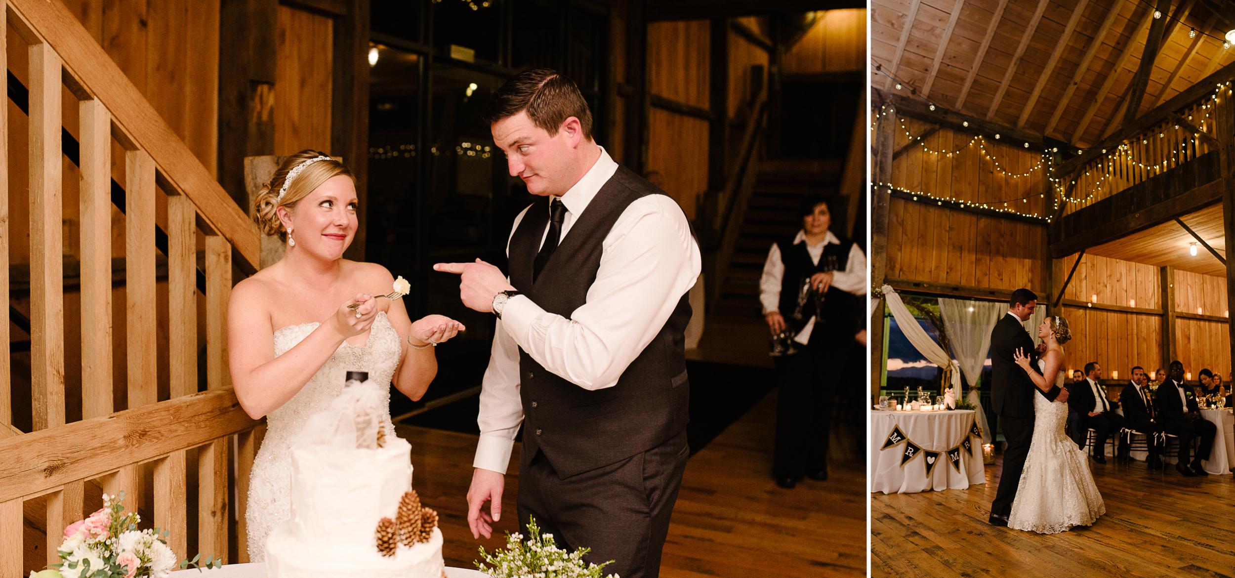white barn wedding cake cutting.jpg