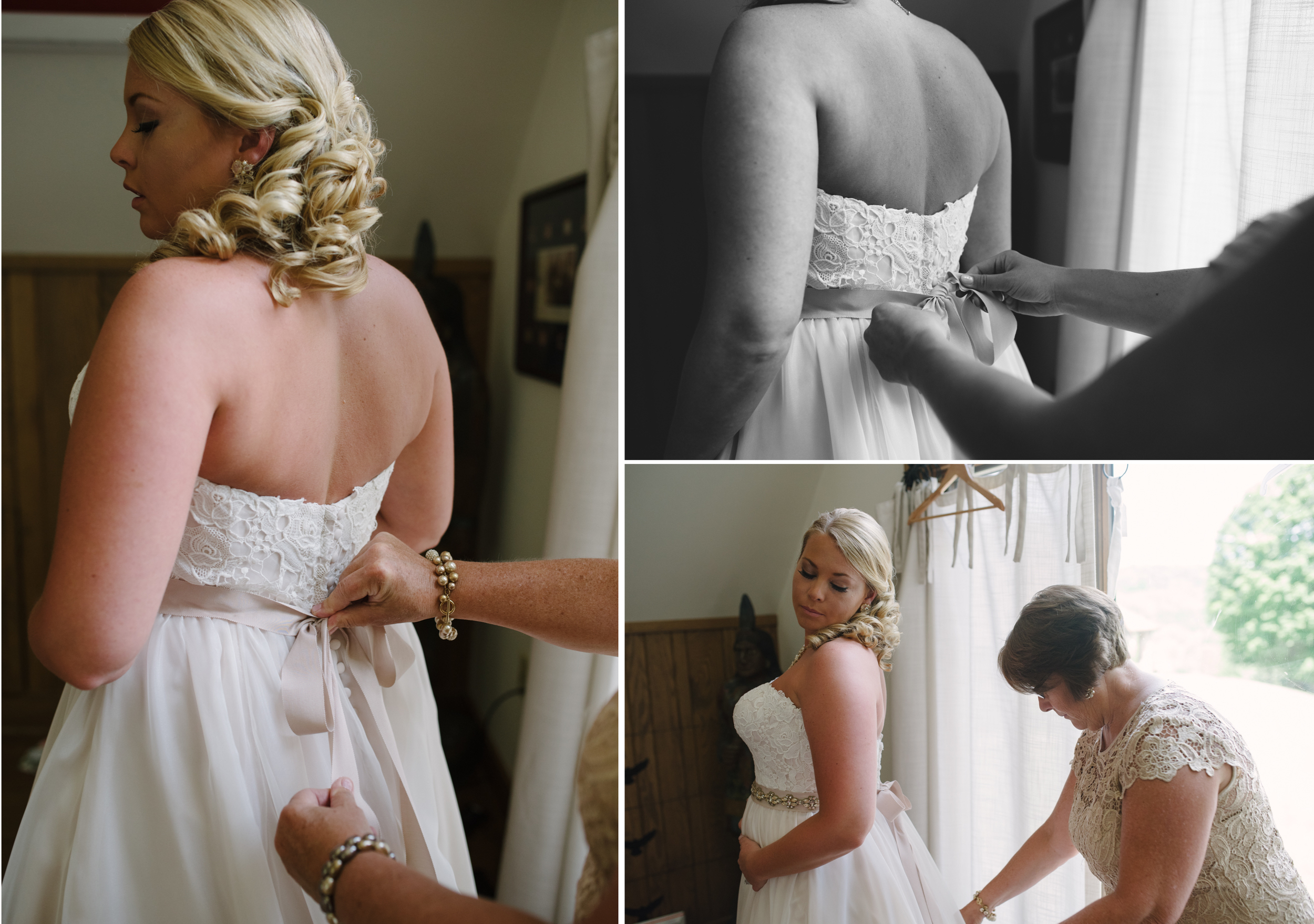 oak lodge wedding, getting dressed.jpg