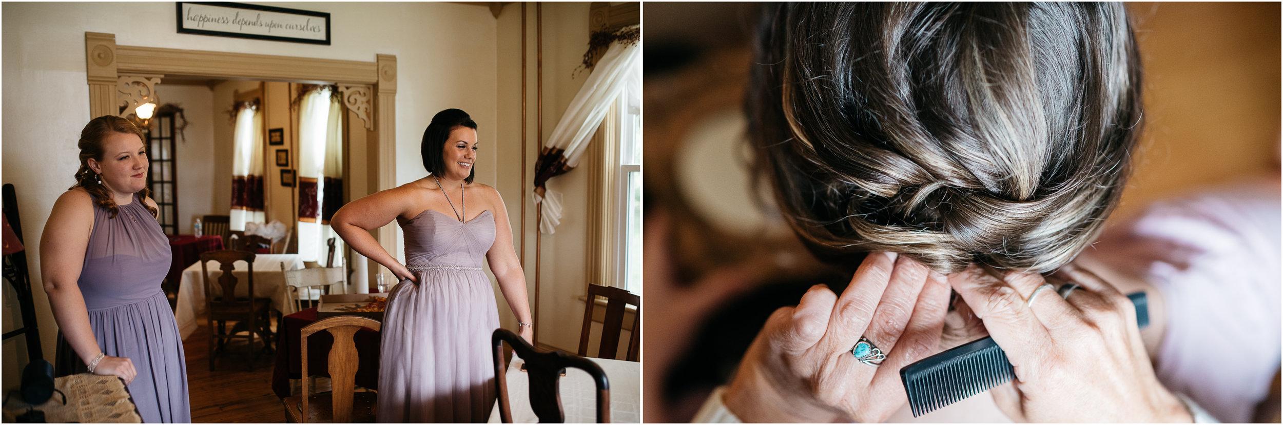 getting ready, Wedding photographer Pittsburgh & Ligonier PA, the Hayloft of Rockwood PA.jpg