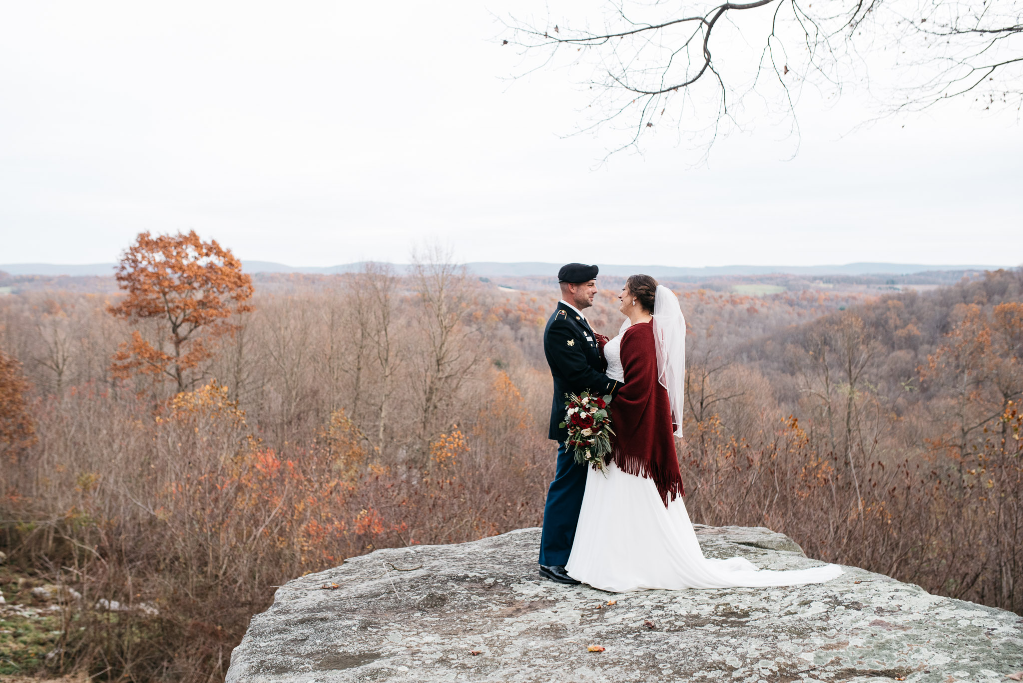 November Wedding Portrait Oak Lodge Stahlstown PA