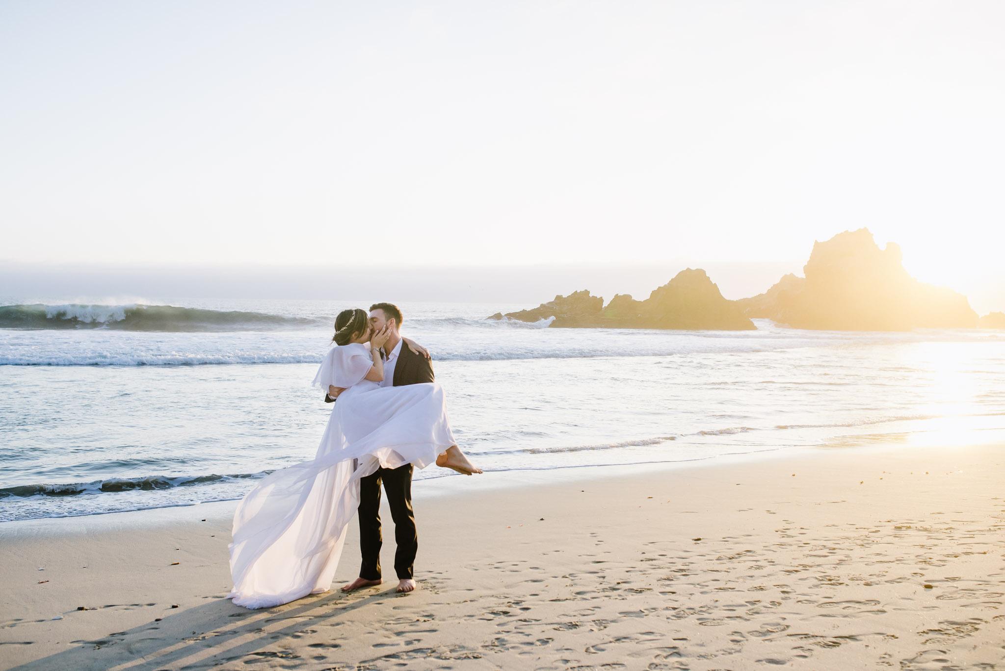 Big Sur Wedding Photography Couple on Beach