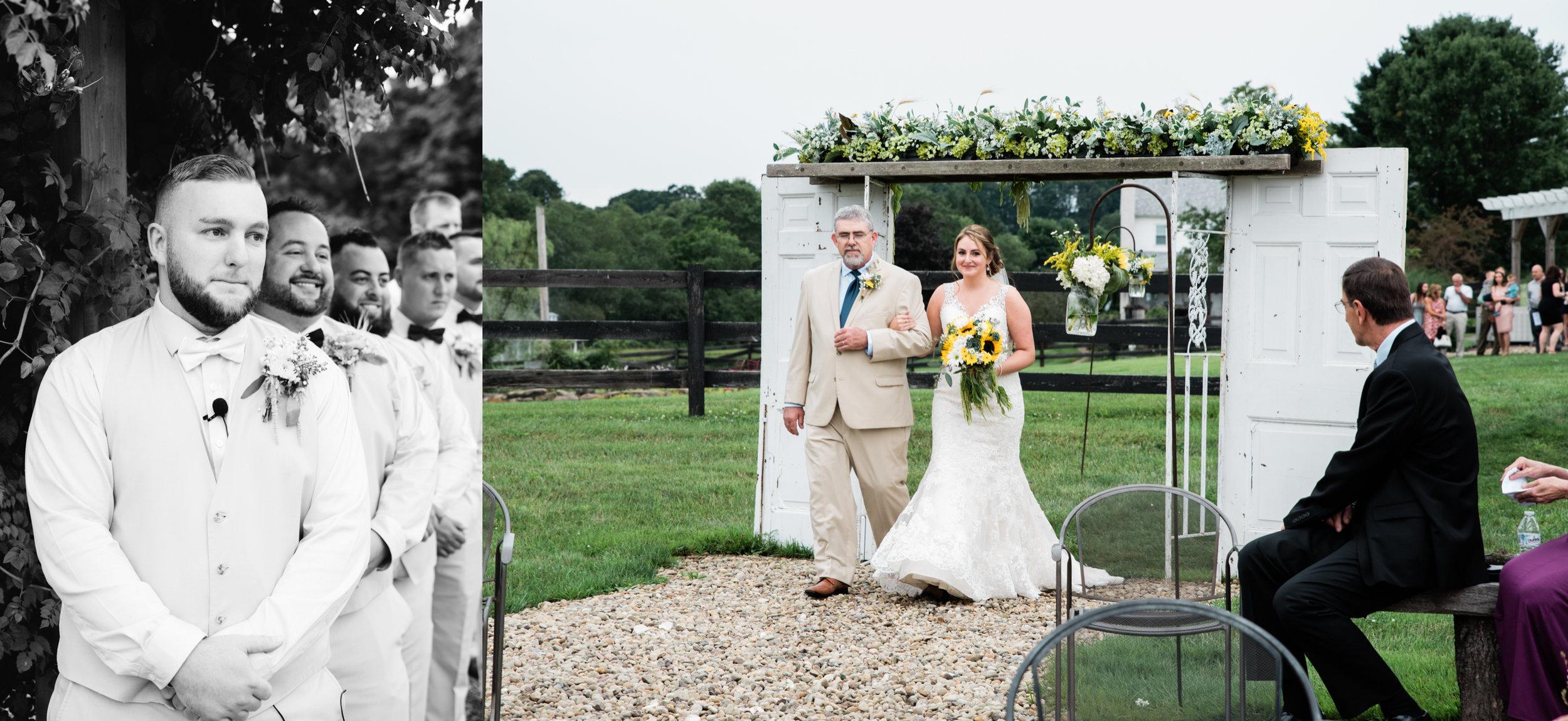 wedding ceremony photography The Hayloft of PA, wedding photographer.jpg