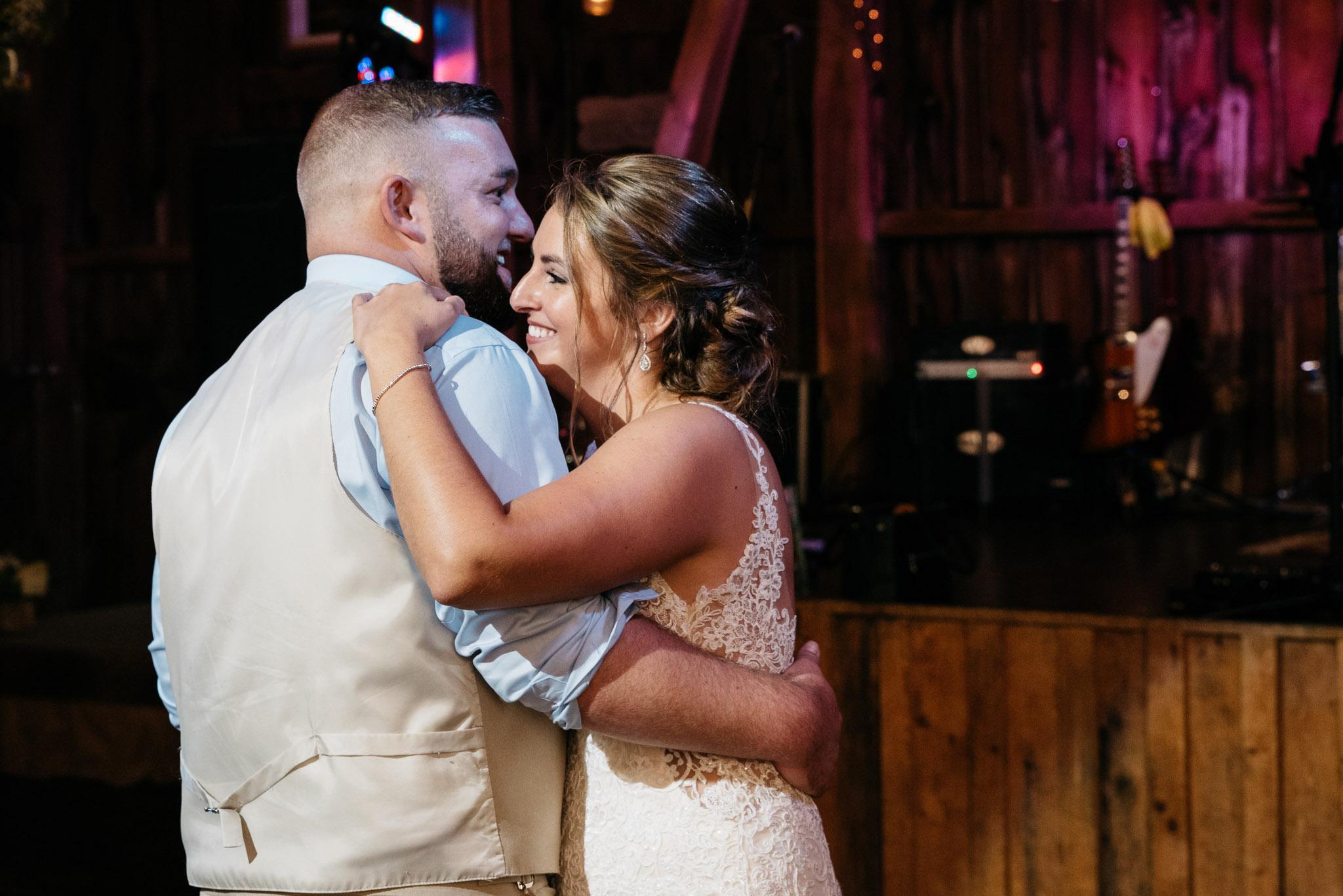 first dance, Pittsburgh Wedding Photographer, Hayloft of PA Mariah Fisher-0236.jpg