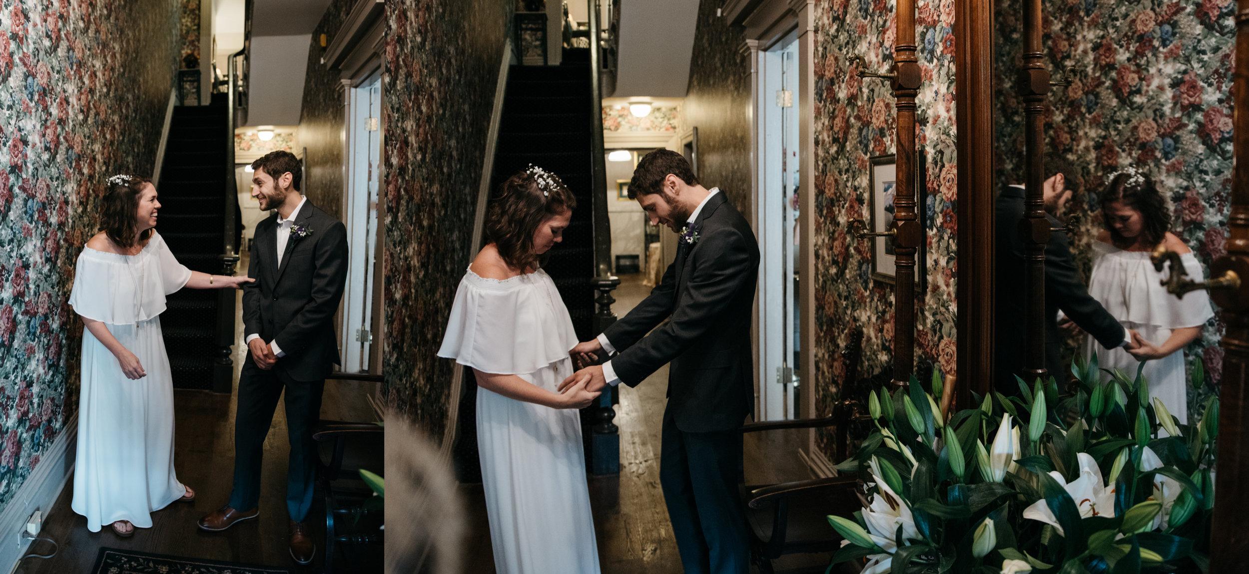 first look, morning glory inn, pittsburgh wedding photography.jpg