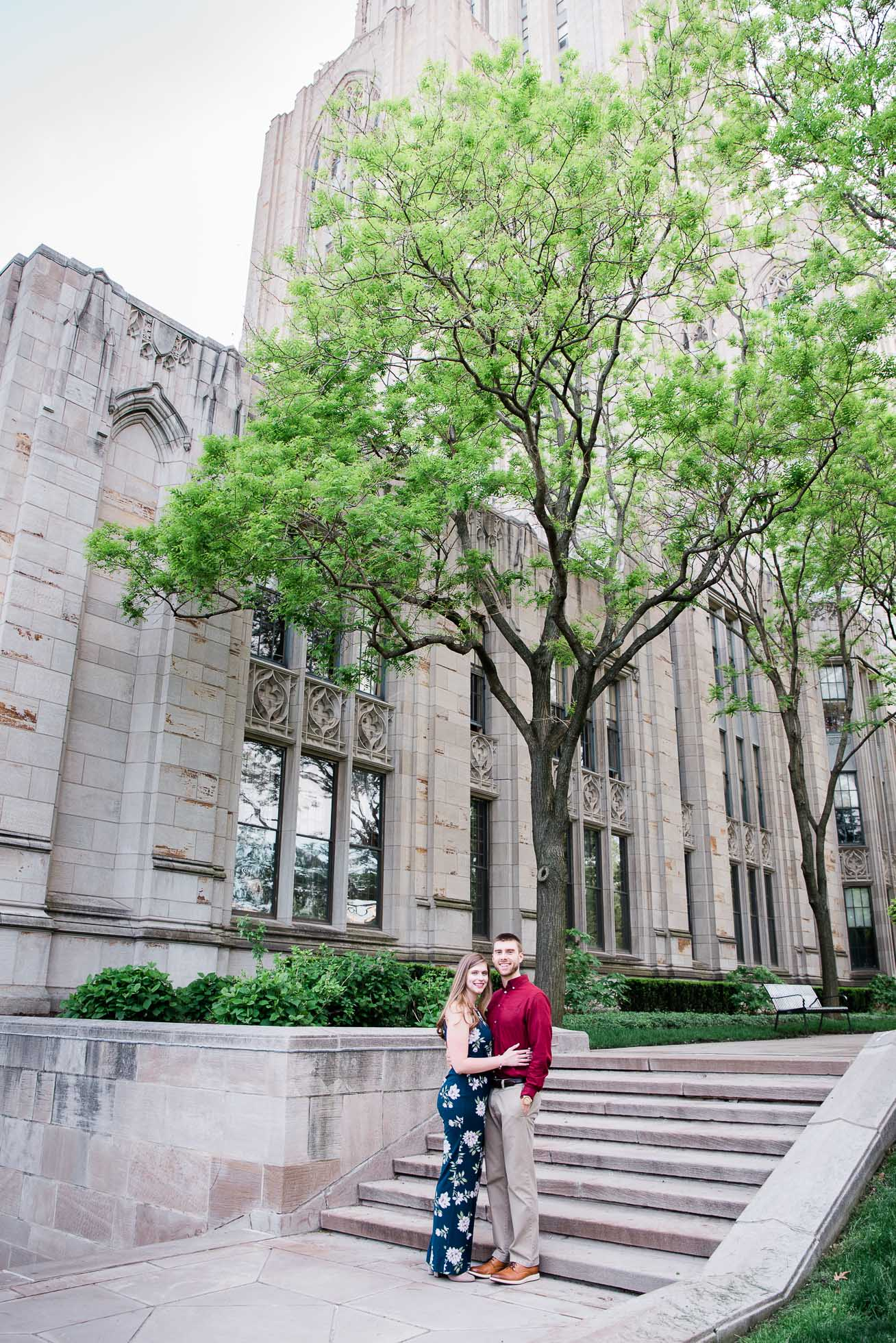 Pittsburgh Cathedral of Learning Engagement session, Wedding Photographer, Mariah Fisher.jpg
