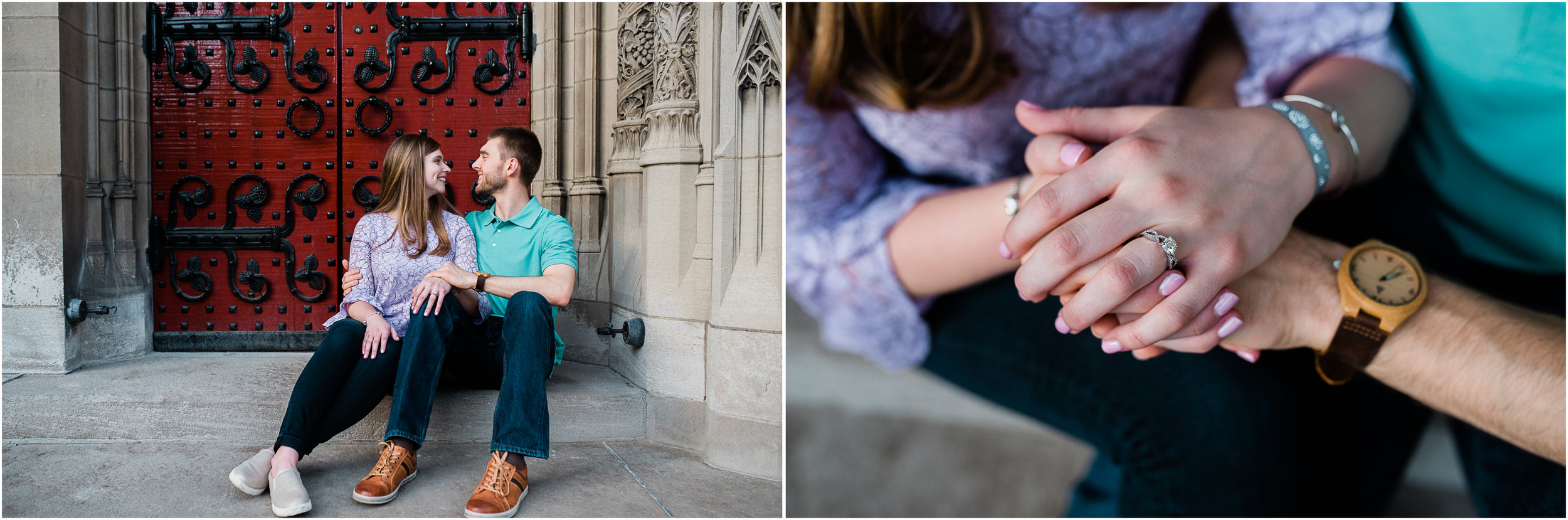 Pittsburgh Engagement Photographer, Pitt campus, Cathedral of Learning.jpg
