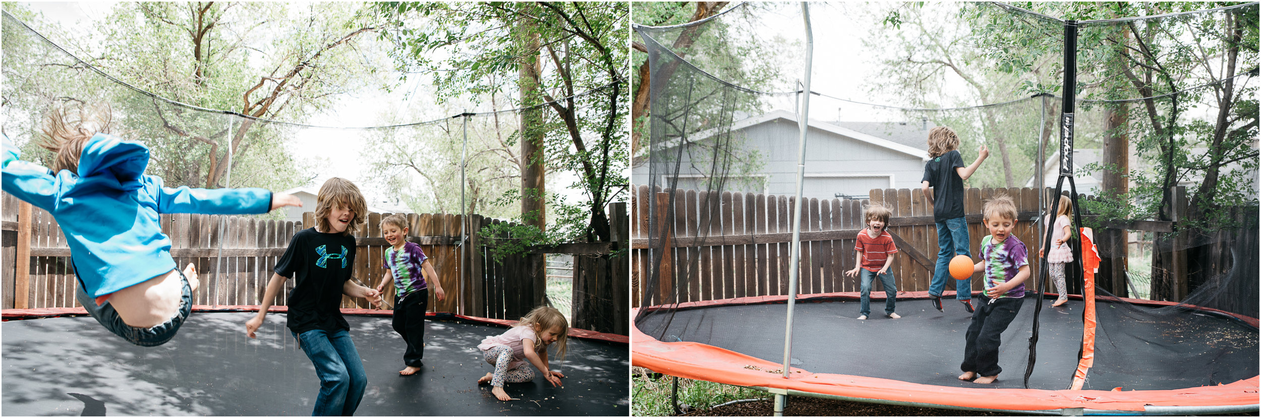 Kids playing on trampoline, Pittsburgh Pa lifestyle photographer.jpg