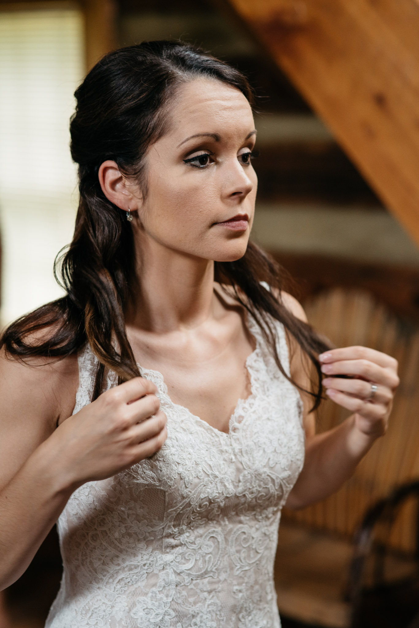 Bride getting ready, The Event Barn at Highland Farms, Somerset PA-9339.jpg