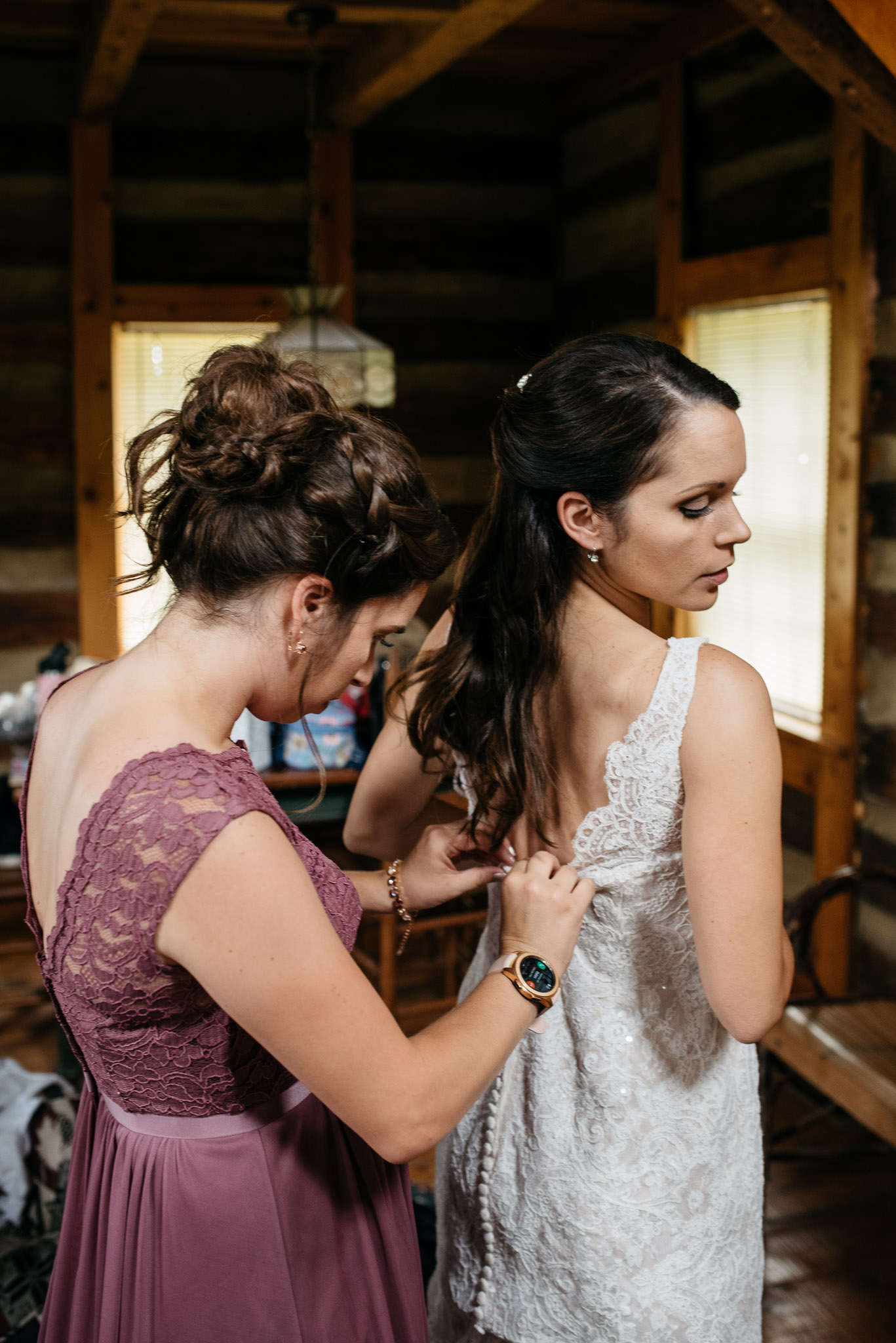 Bride getting ready, The Event Barn at Highland Farms, Somerset PA-3005.jpg