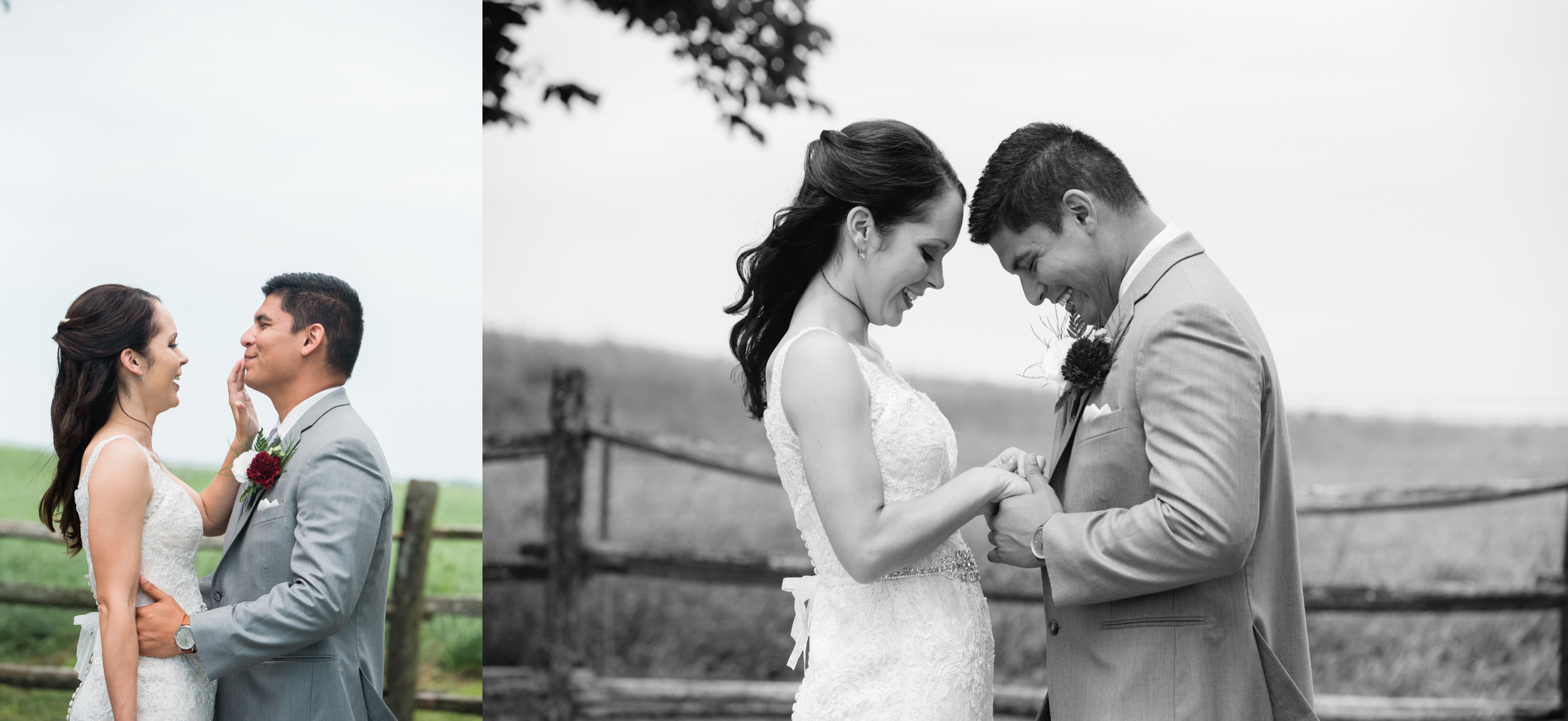 first look, somerset pa wedding, barn wedding, pittsburgh wedding.jpg