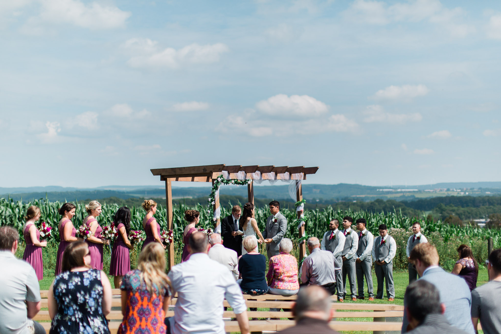Outdoor Ceremony, Pittsburgh Wedding Photographer, The Event Barn at Highland Farms, Somerset PA-5114.jpg