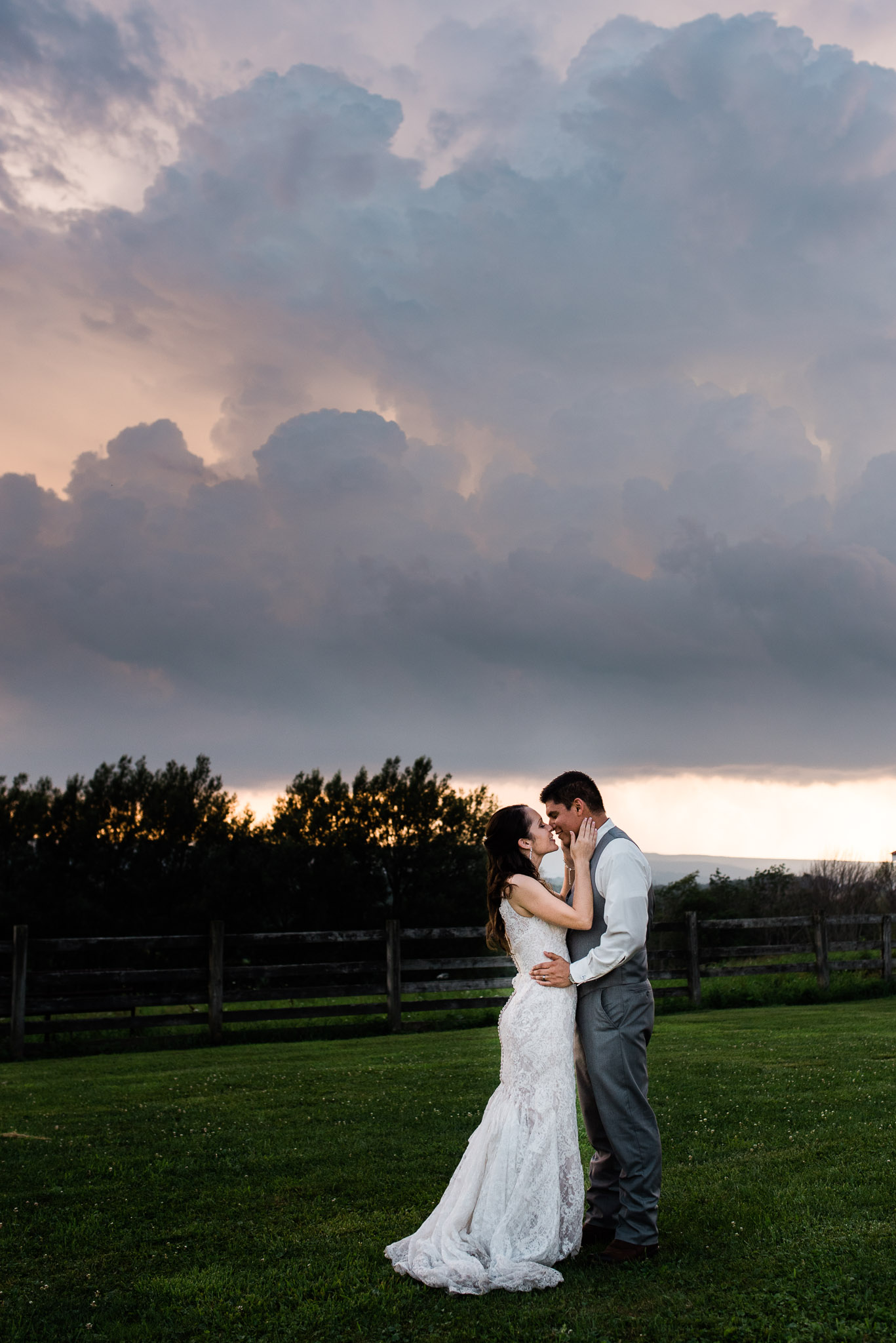 Sunset Wedding Portraits, Pittsburgh Wedding Photographer, The Event Barn at Highland Farms, Somerset PA-4074.jpg