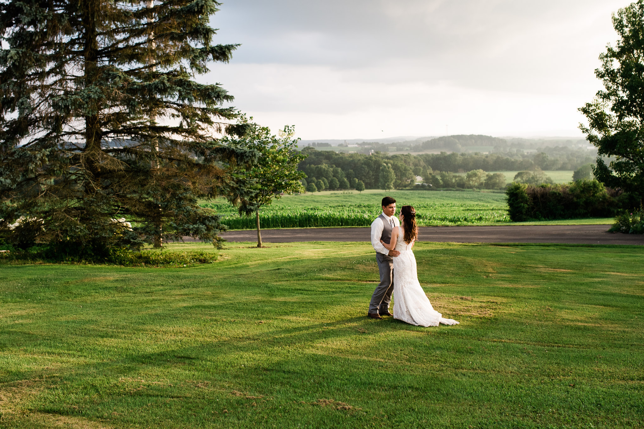 Sunset Wedding Portraits, Pittsburgh Wedding Photographer, The Event Barn at Highland Farms, Somerset PA-4114.jpg