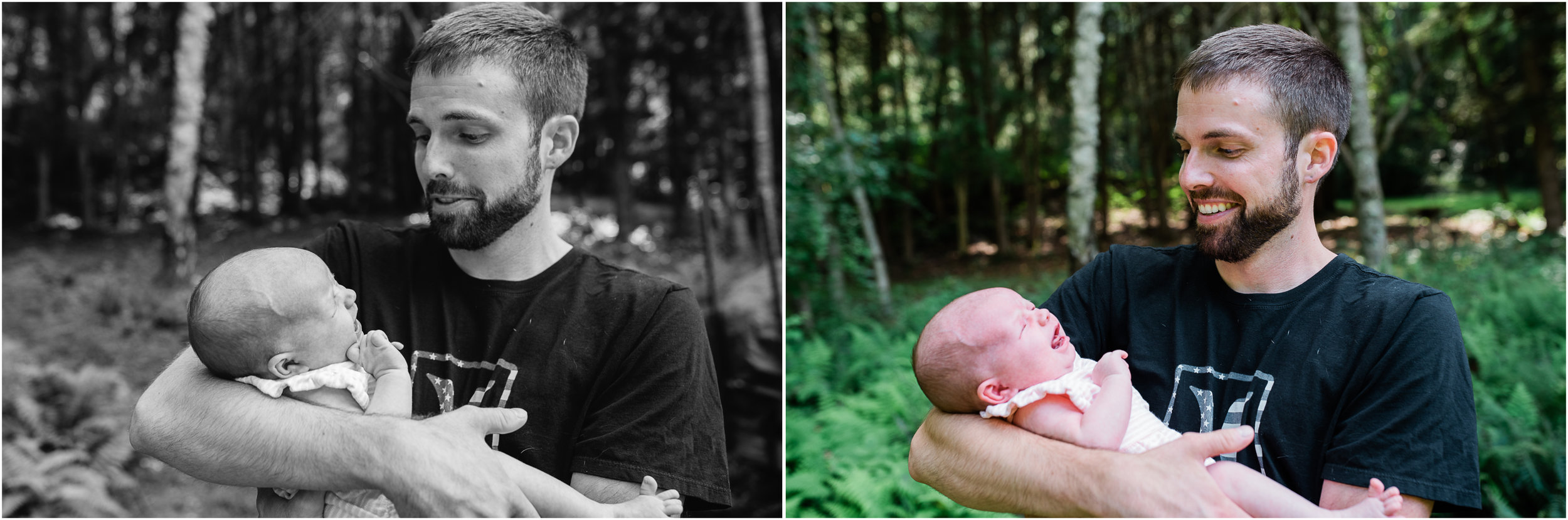 father and newborn daughter, ligonier pa photographer.jpg