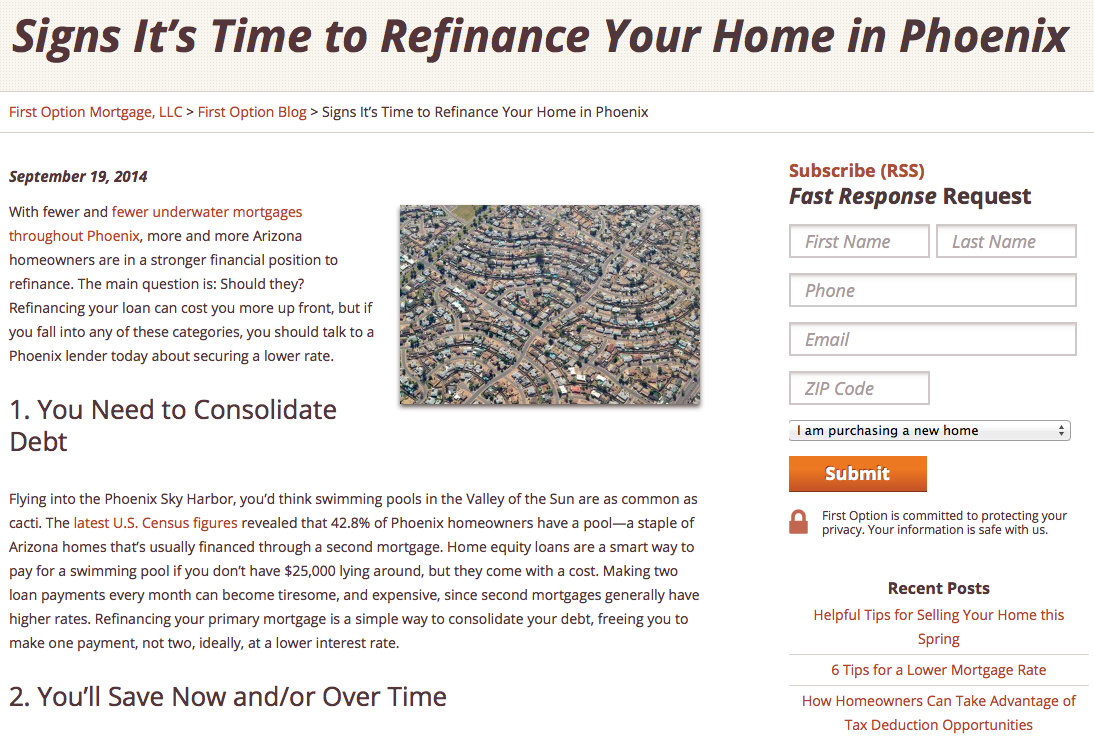 Phoenix Refinancing