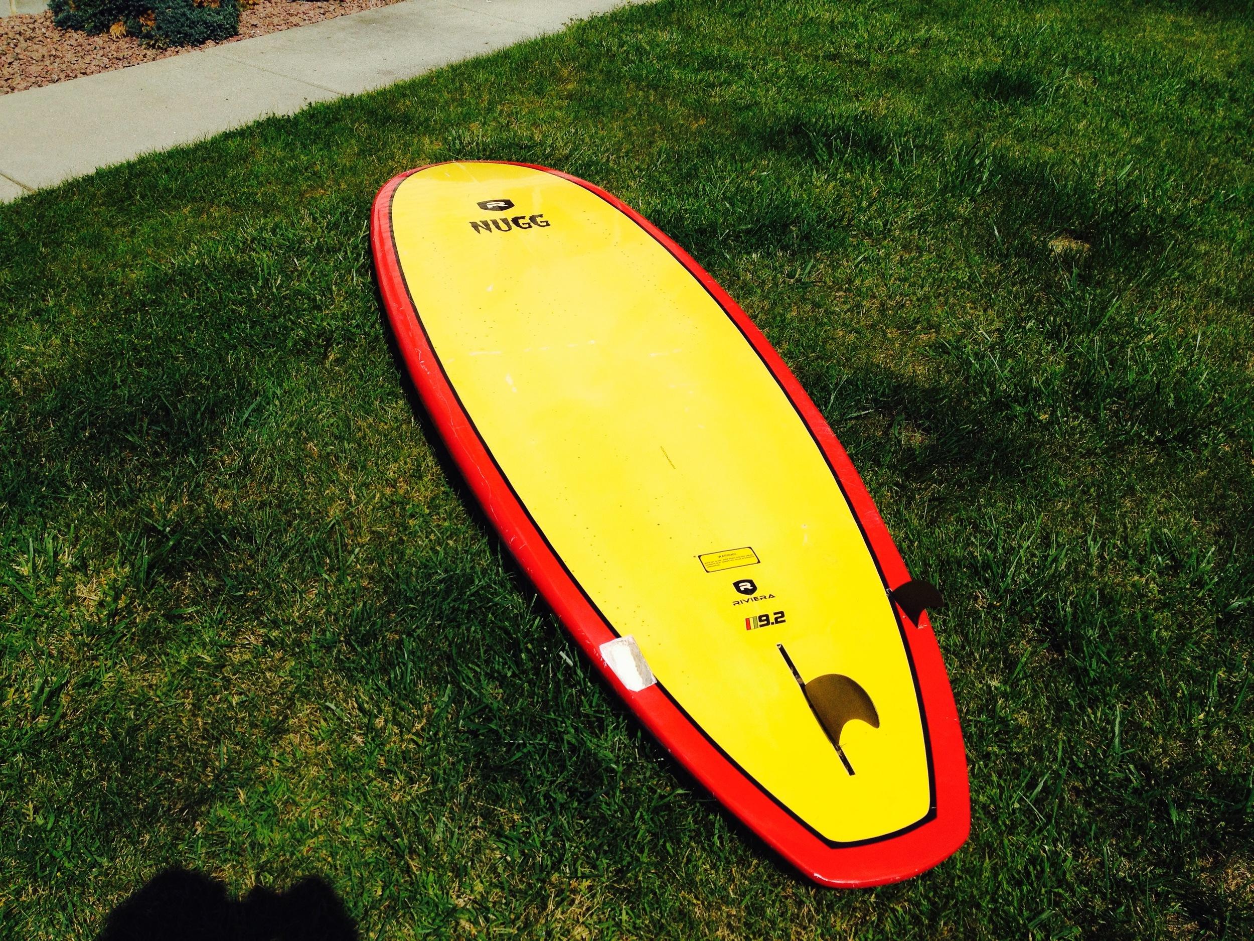 Board drying in the sun.