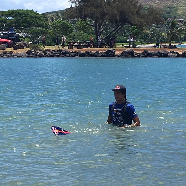 @kai_lenny got 1st in the foil division at today's M2O World Paddle Board Championship. He beat his record time from last year by over twenty minutes. Such a humble and amazing athlete. We were in awe of the athletes today. Big ups to all that made it including @zaniac1 #M20