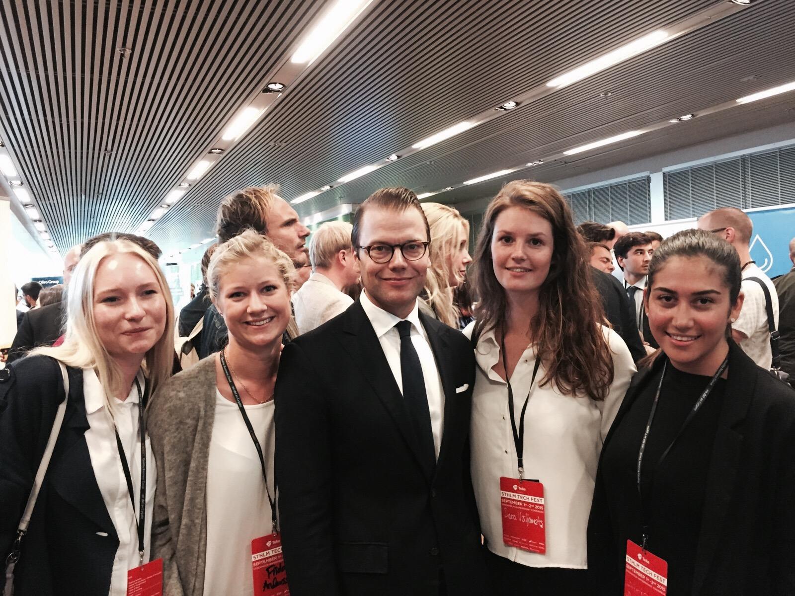 Me, Frida, Sara and Ajje from Pepp Sthlm talking to Prince Daniel!