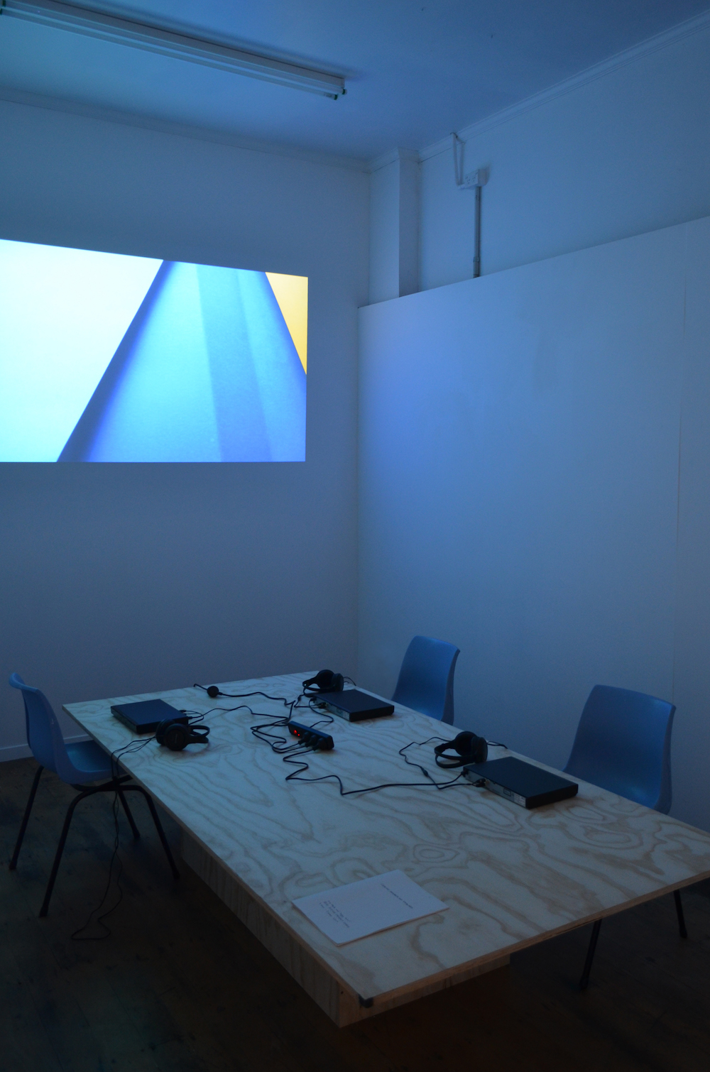How Shading Flows to Edges, Lucy Meyle and Ziggy Lever, Looking Forwards and Backwards, Blue Oyster Art Project Space, 2017