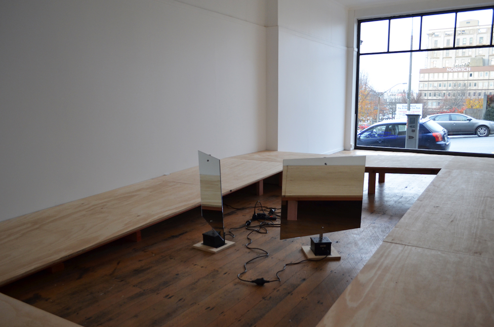 From Wall To Wall and Moving Towards the center, Lucy Meyle and Ziggy Lever, Looking Forwards and Backwards, Blue Oyster Art Project Space, 2017