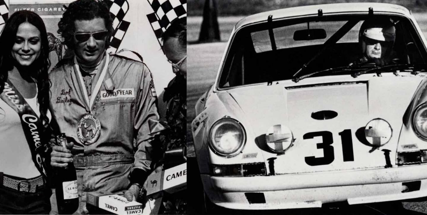 Bob Bailey - 1972 Lime Rock, CT, Camel GT Challenge, Porsche 2.4 litre 911- 1st Overall