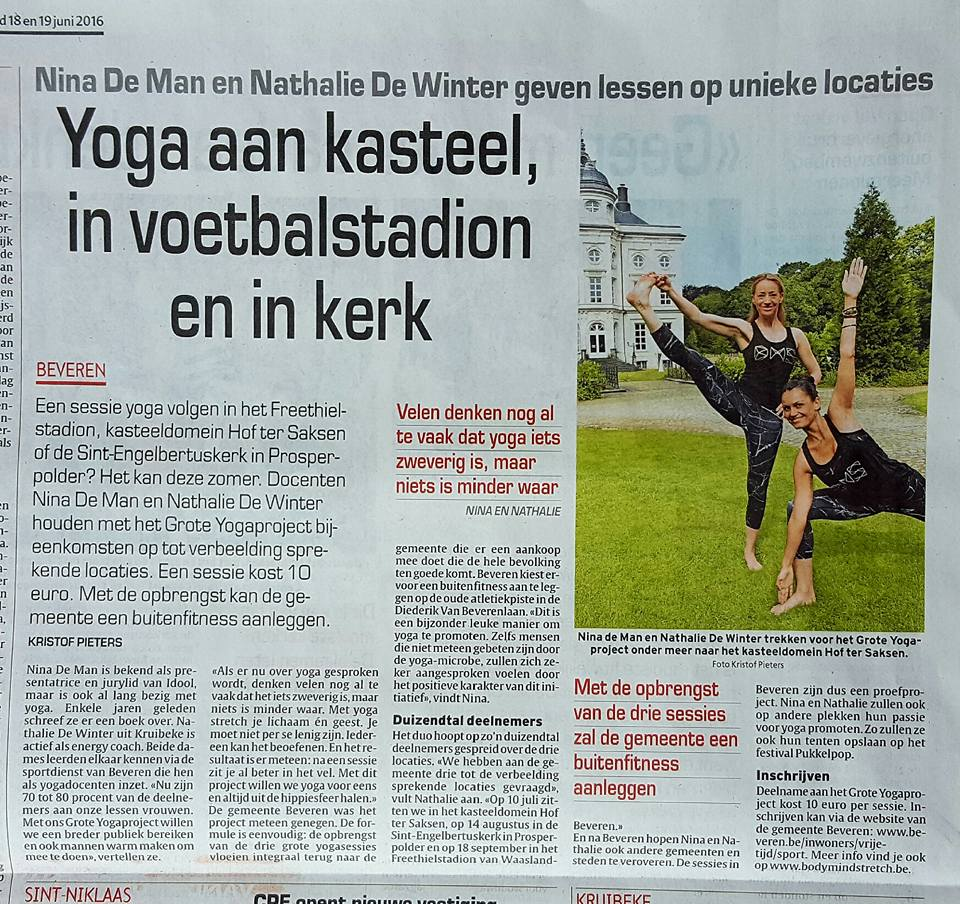 Gazet. Nina De Man Yoga Projectjpg