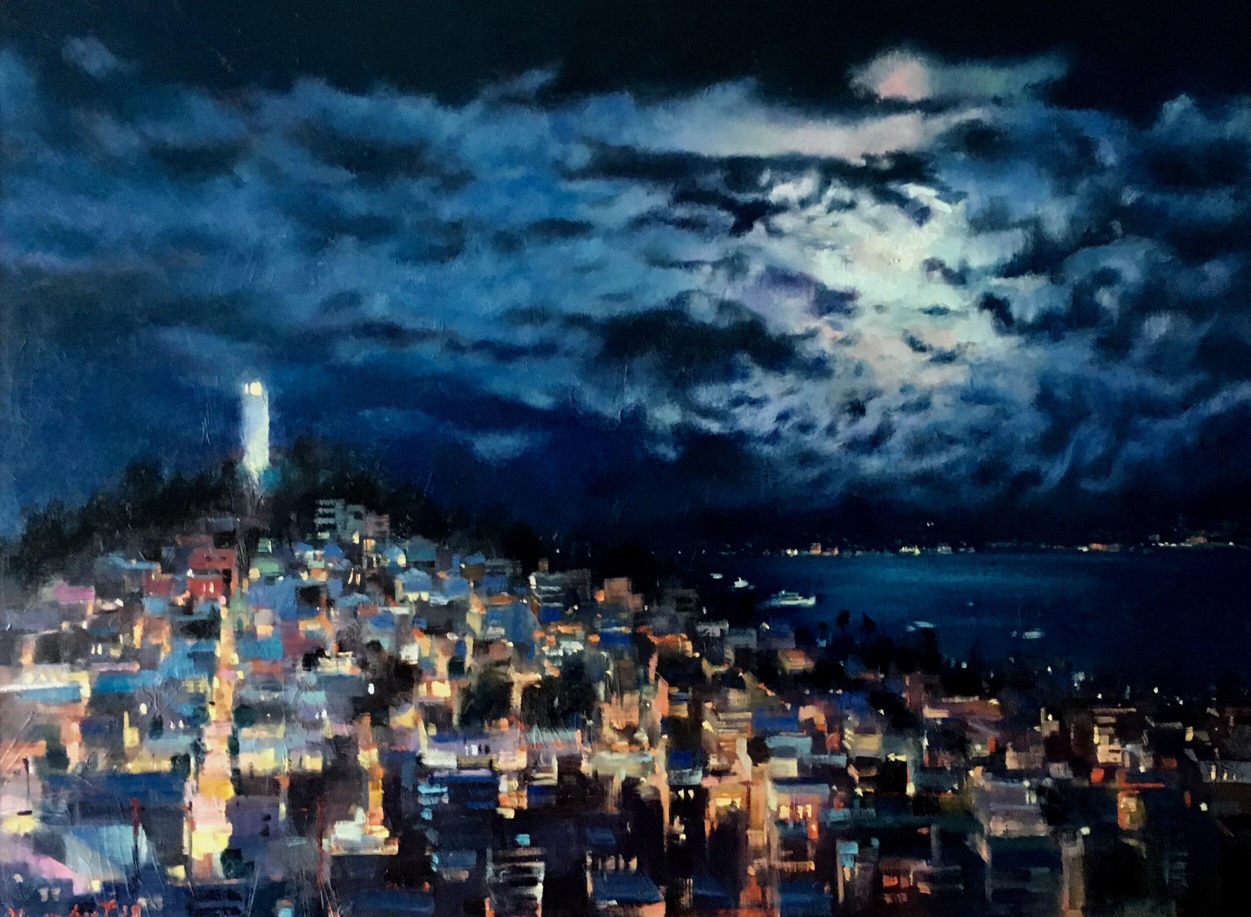 MOON LIGHT (COIT TOWER)