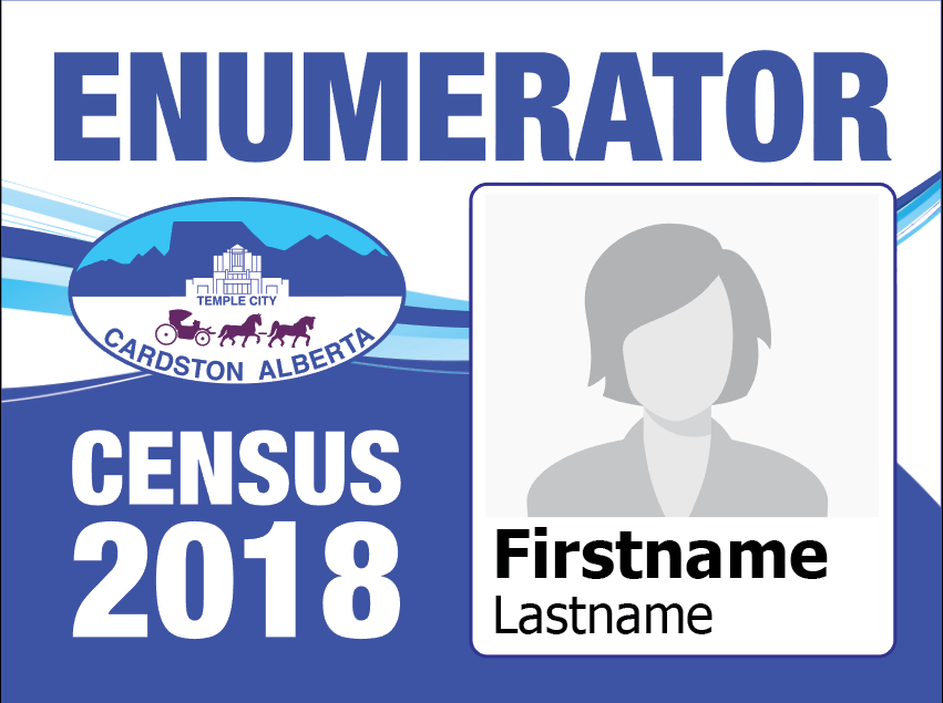 Enumerators will all be wearing an ID badge.
