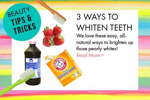 DIY 3 ways to whiten teeth