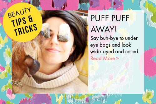 DIY eye bags