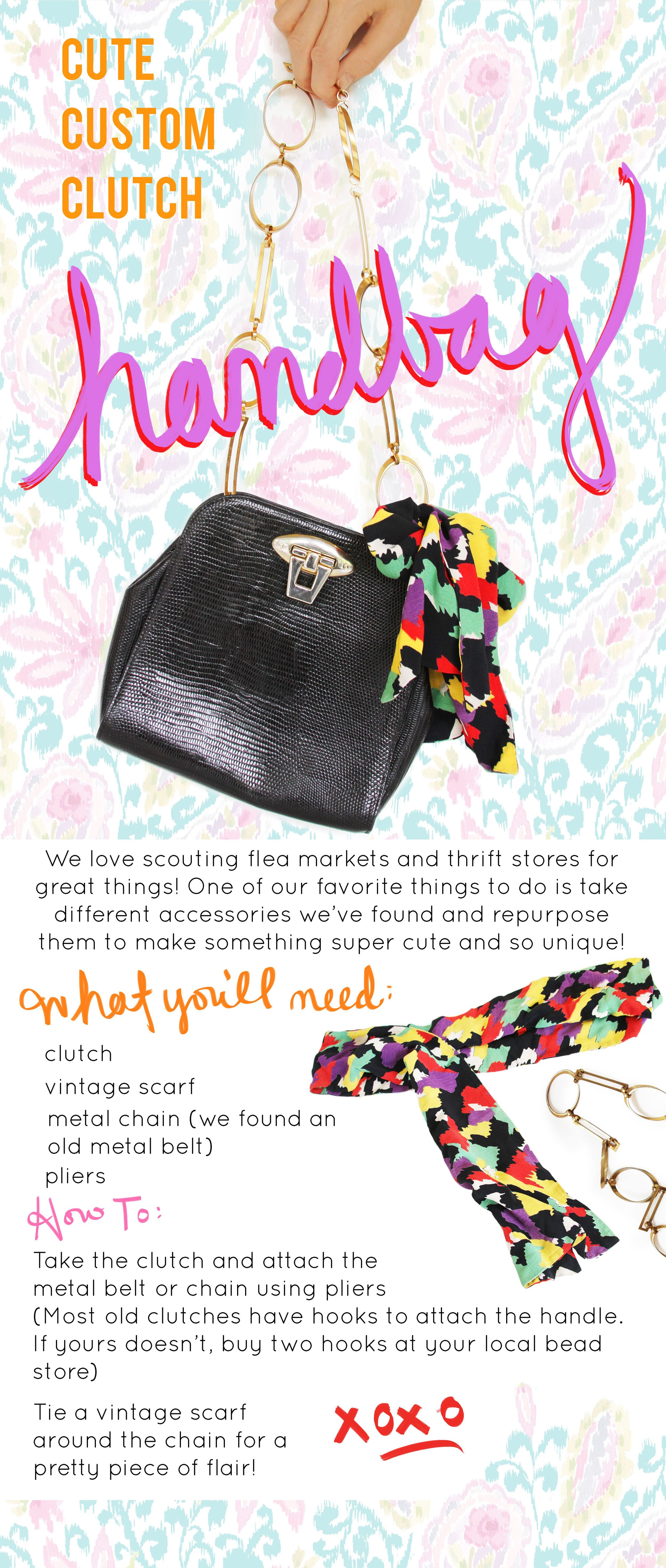 Do it yourself clutch handbag