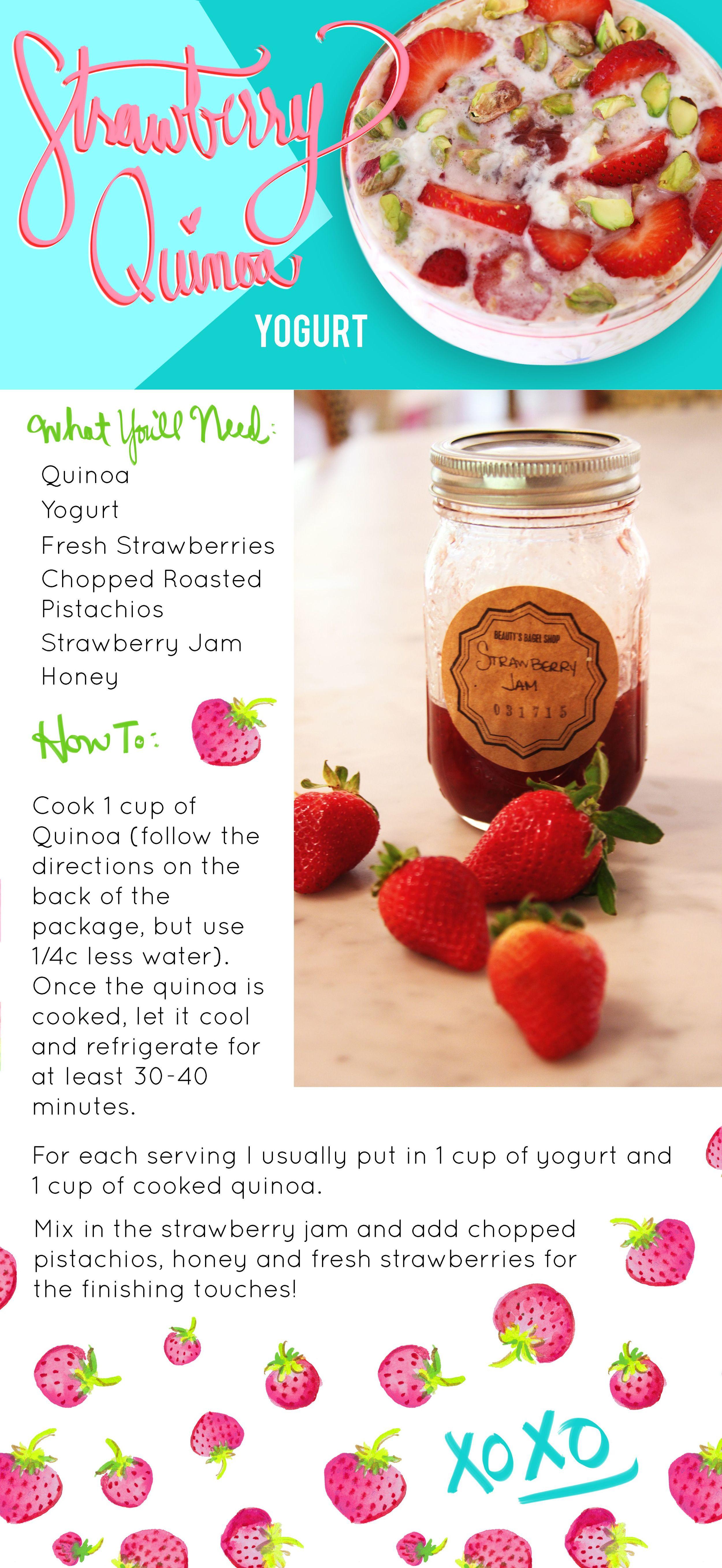 Strawberry Quinoa Yogurt