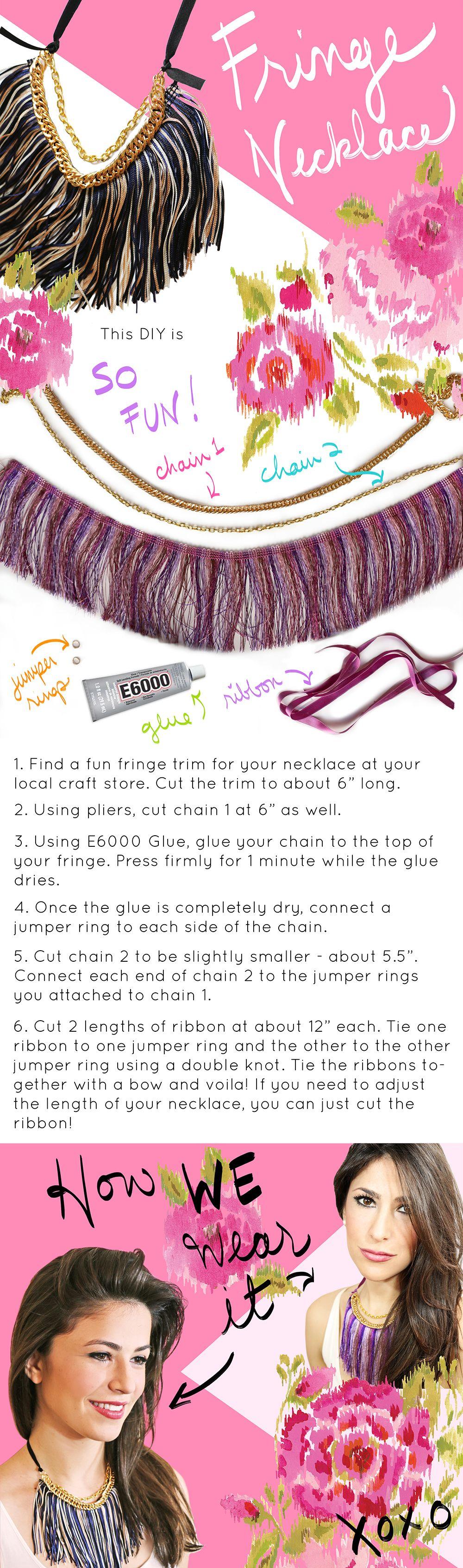 Do it yourself Fringe Necklace