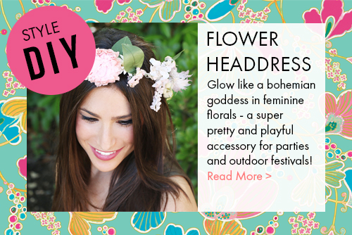 Bohemian Flower Headdress