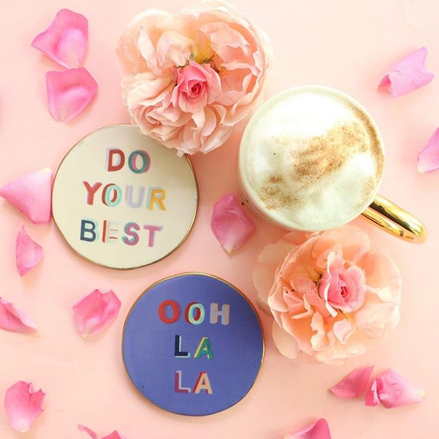Monday Motivation! These coasters are beyond adorable.⠀ ⠀ #hautegirls #motivationmonday #anthropologie #toocute ⠀ ⠀