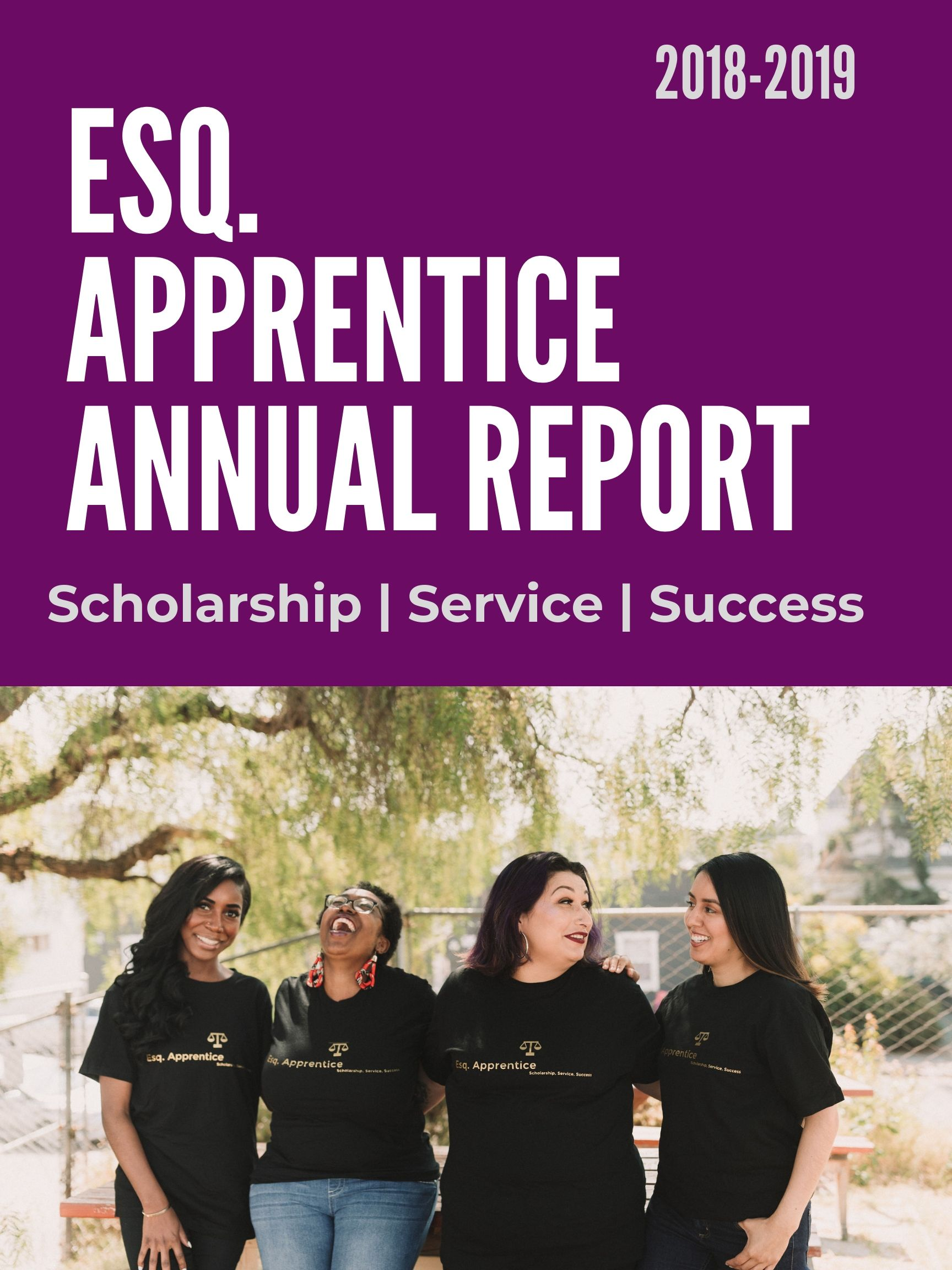 Check out Esq. Apprentice's Annual Report!