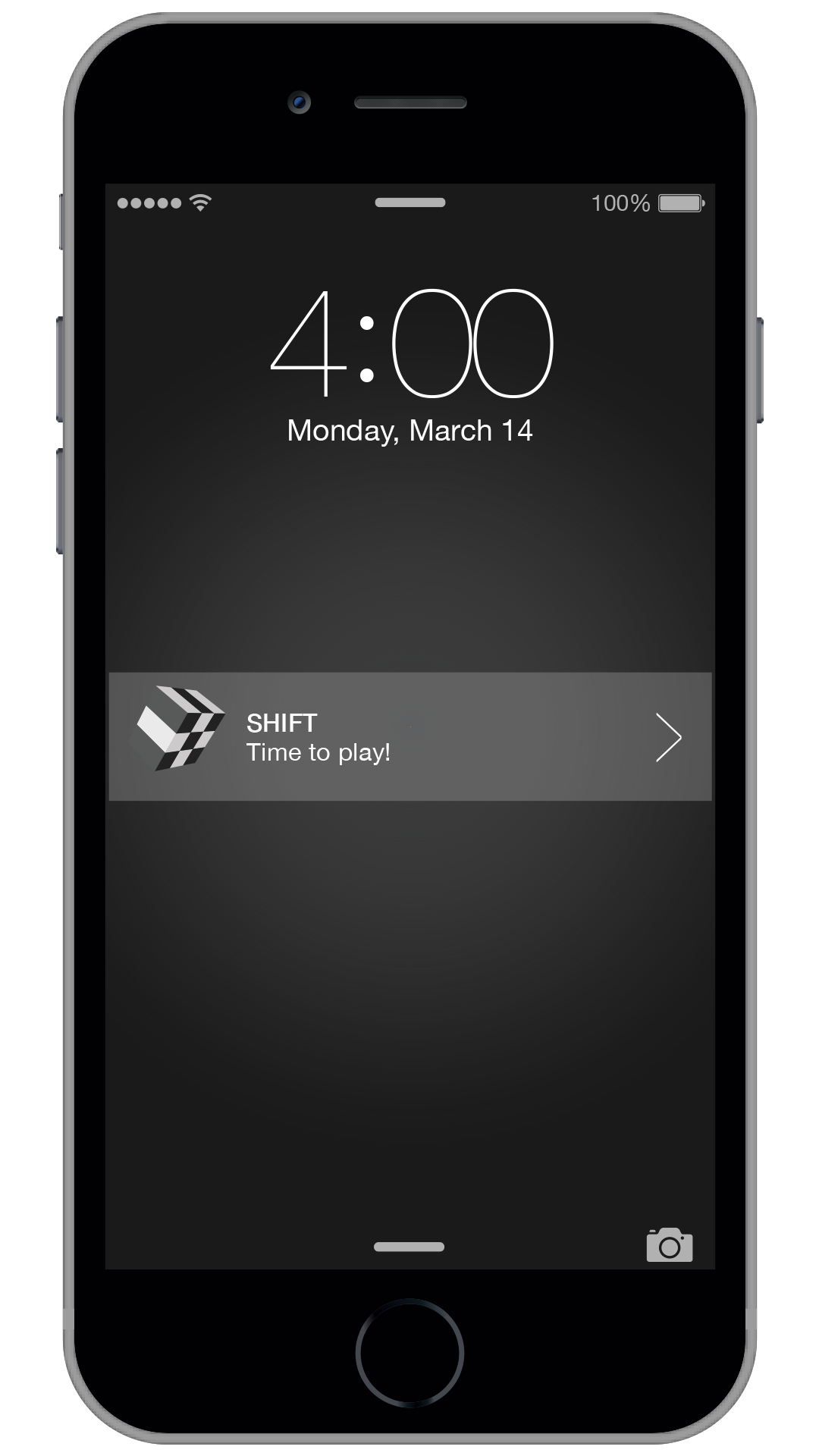 The app runs an alarm, scheduling play time throughout the day.