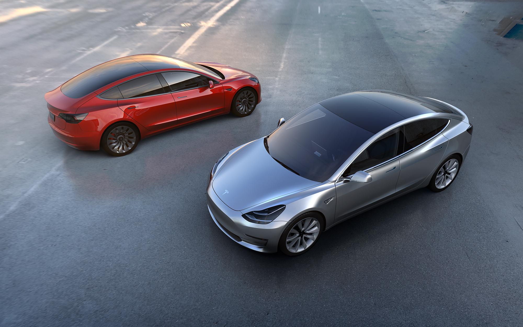 Tesla Model 3  Photo: Tesla Motors