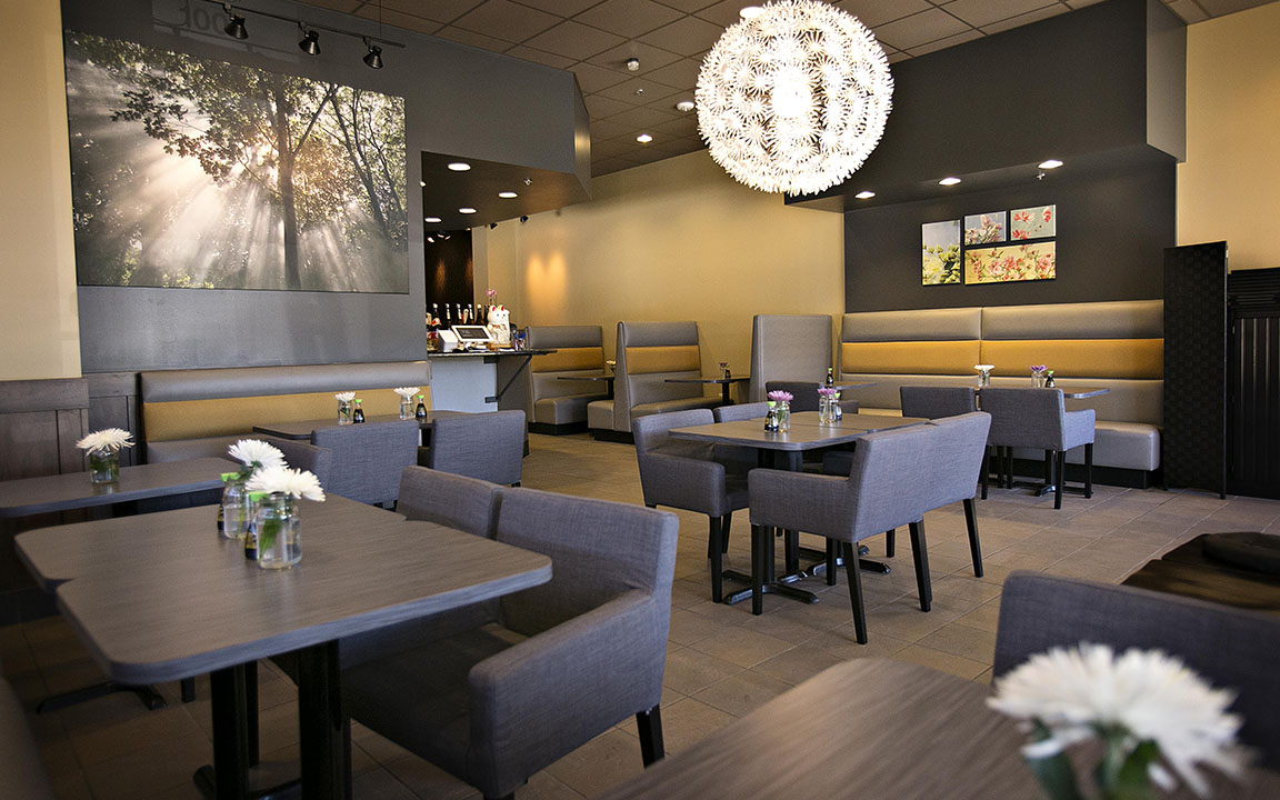 Ootori Sushi   As a third Rochester eatery for the owners of Ootori Sushi, TLS Companies completed a drastic transformation of a former north woods themed Caribou Coffee, into a 1,300 square foot contemporary sushi restaurant.