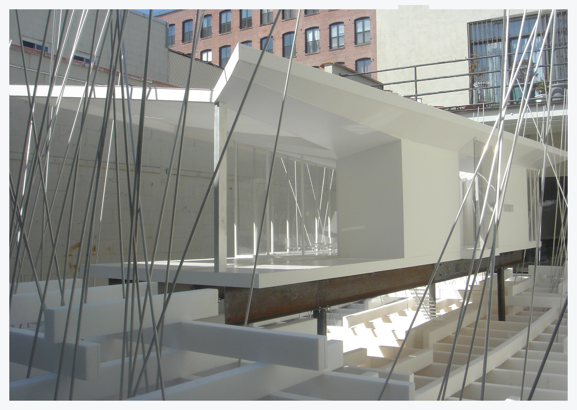 Image: Peter Franck and Kathleen Triem, Model Space, mixed media /©F:T Architecture