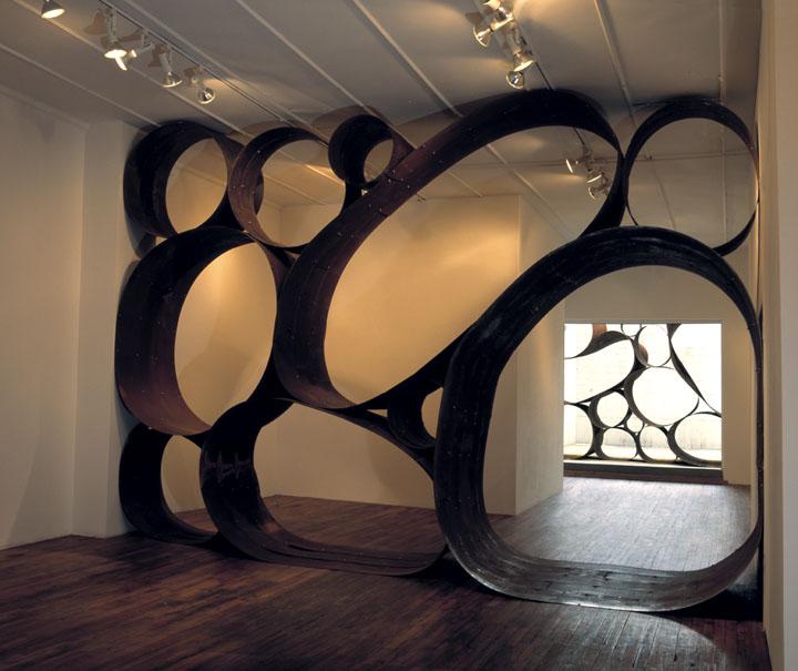Image: Dewitt Godfrey, Picker Sculpture, Corten steal / indoor & outdoor installation views /©Dewitt Godfrey