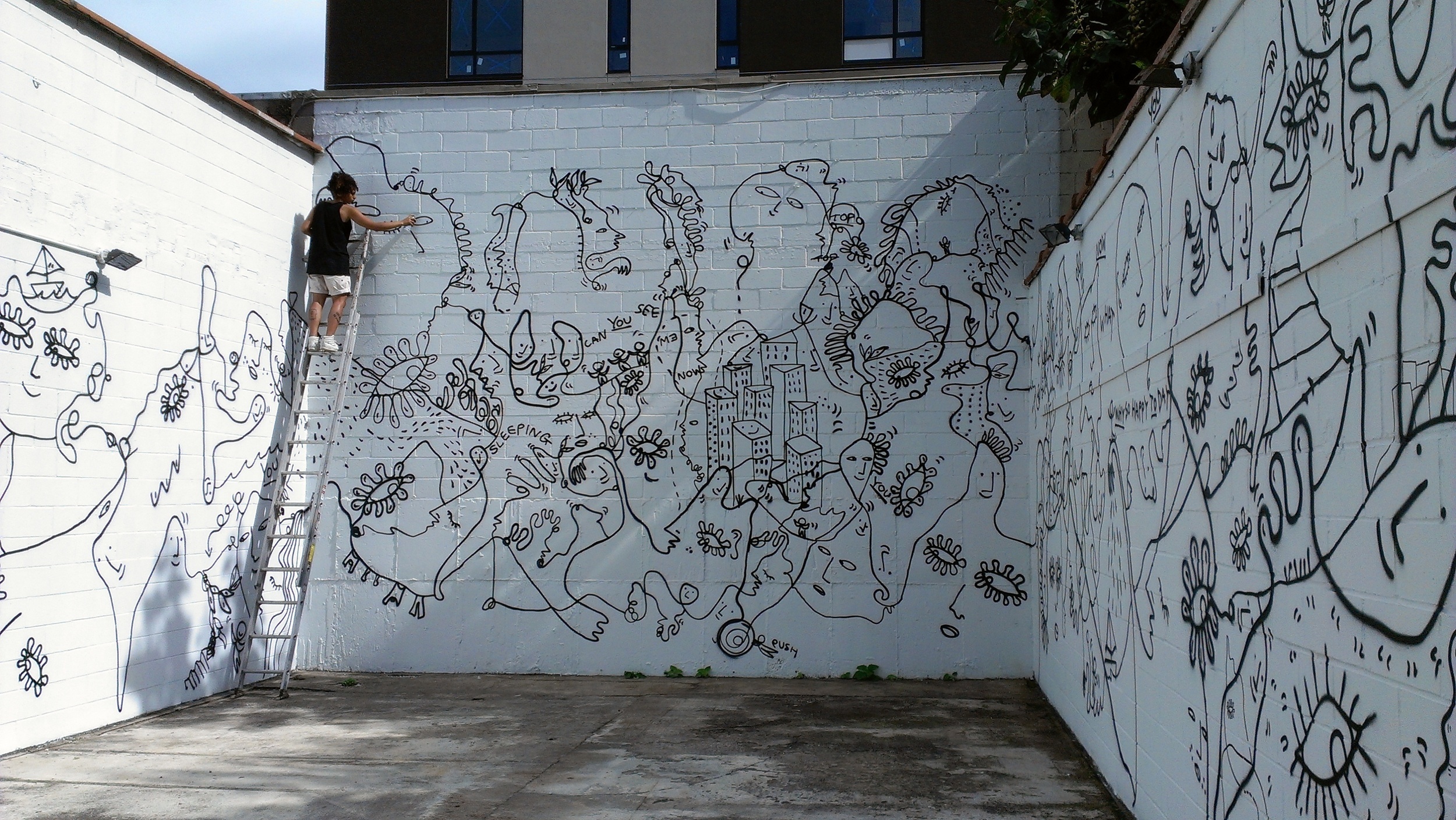 Image: Shantell Martin, Continuous Line, installation view / Image ©Shantell Martin