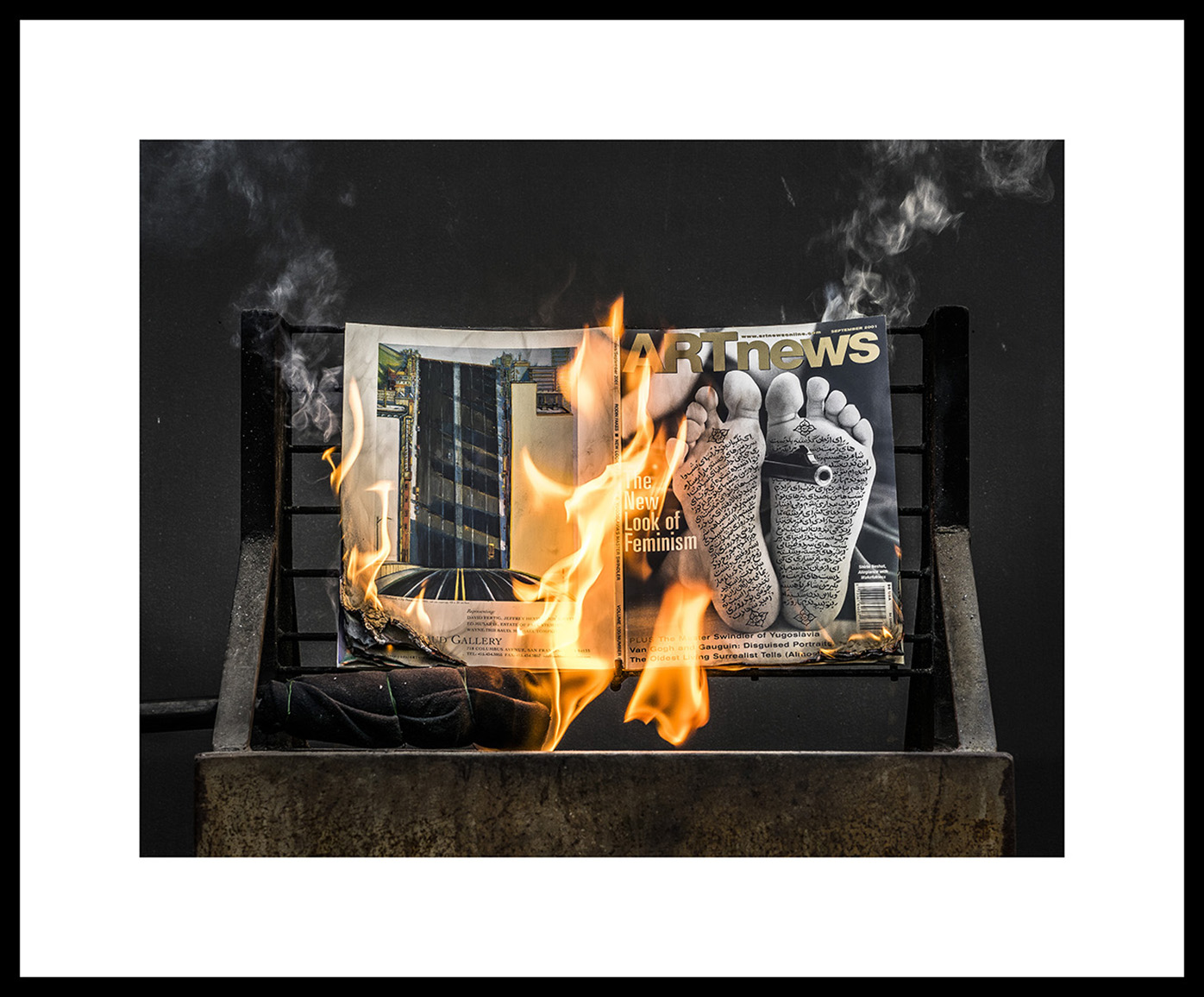 AN Dec 2001 #0844F, 2019   Archival ink jet print on Epson exhibition fiber paper Image: 18x24in, Paper: 24x30in, Frame: 25x31in, Edition of 5 with 2AP