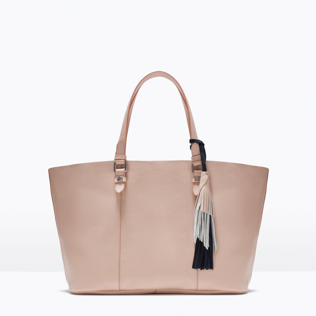 Zara - Leather TasselShopper Bag