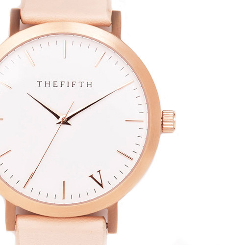 The Fifth - Rose Gold & Peach Watch