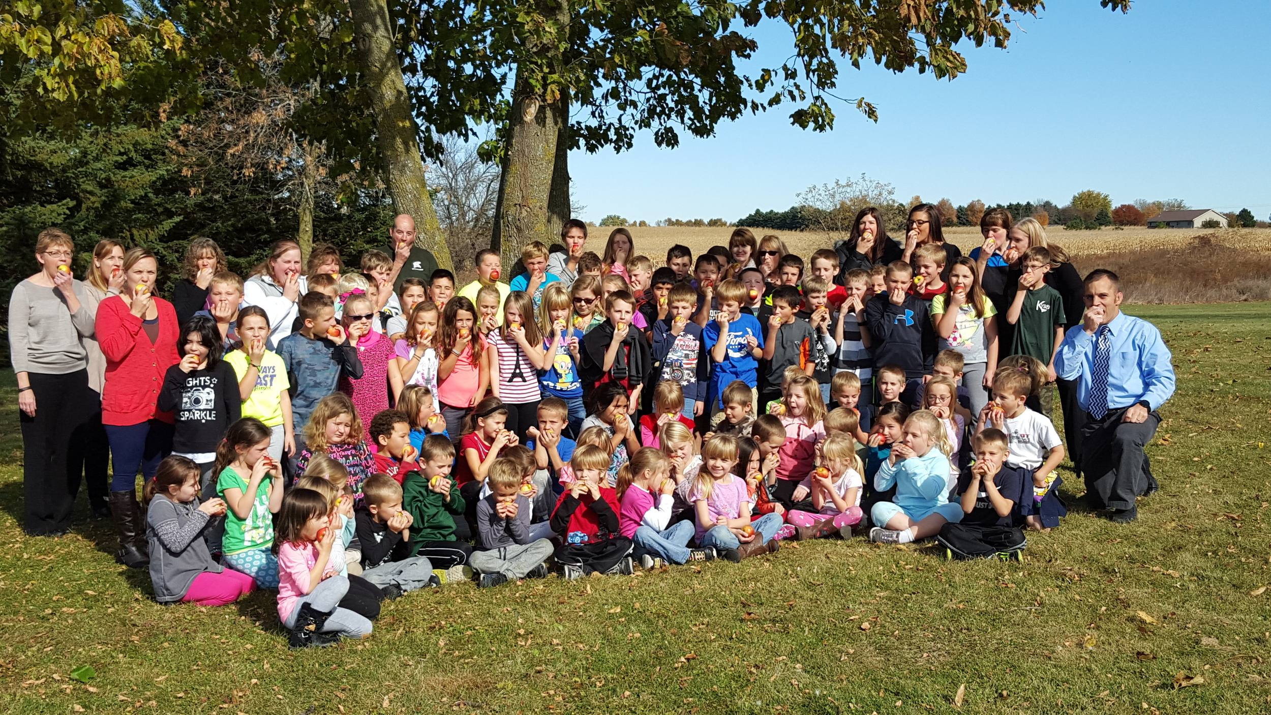 We participated in the Midwest  Great Apple Crunch  on October 22.