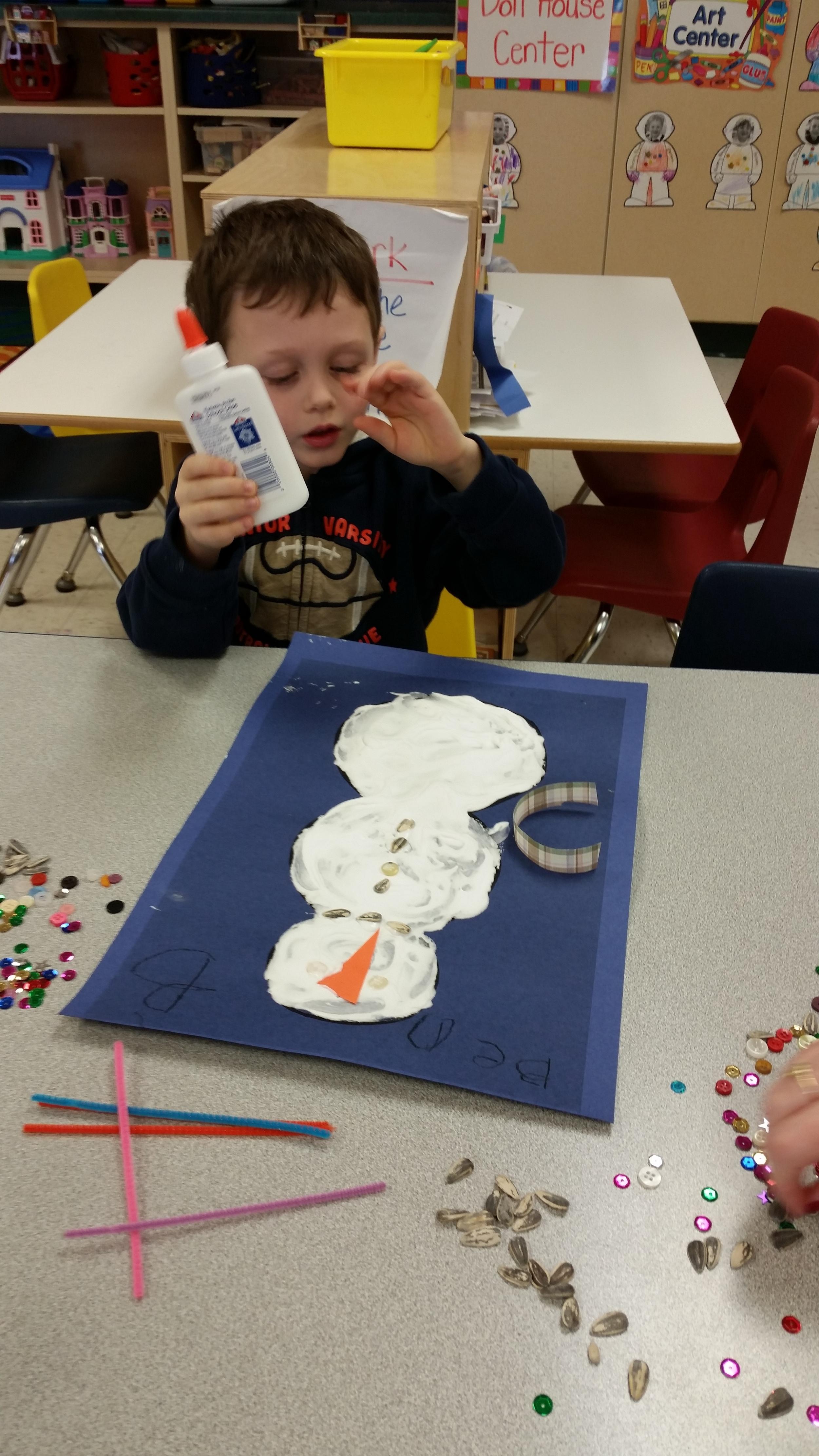 decorating our snowmen