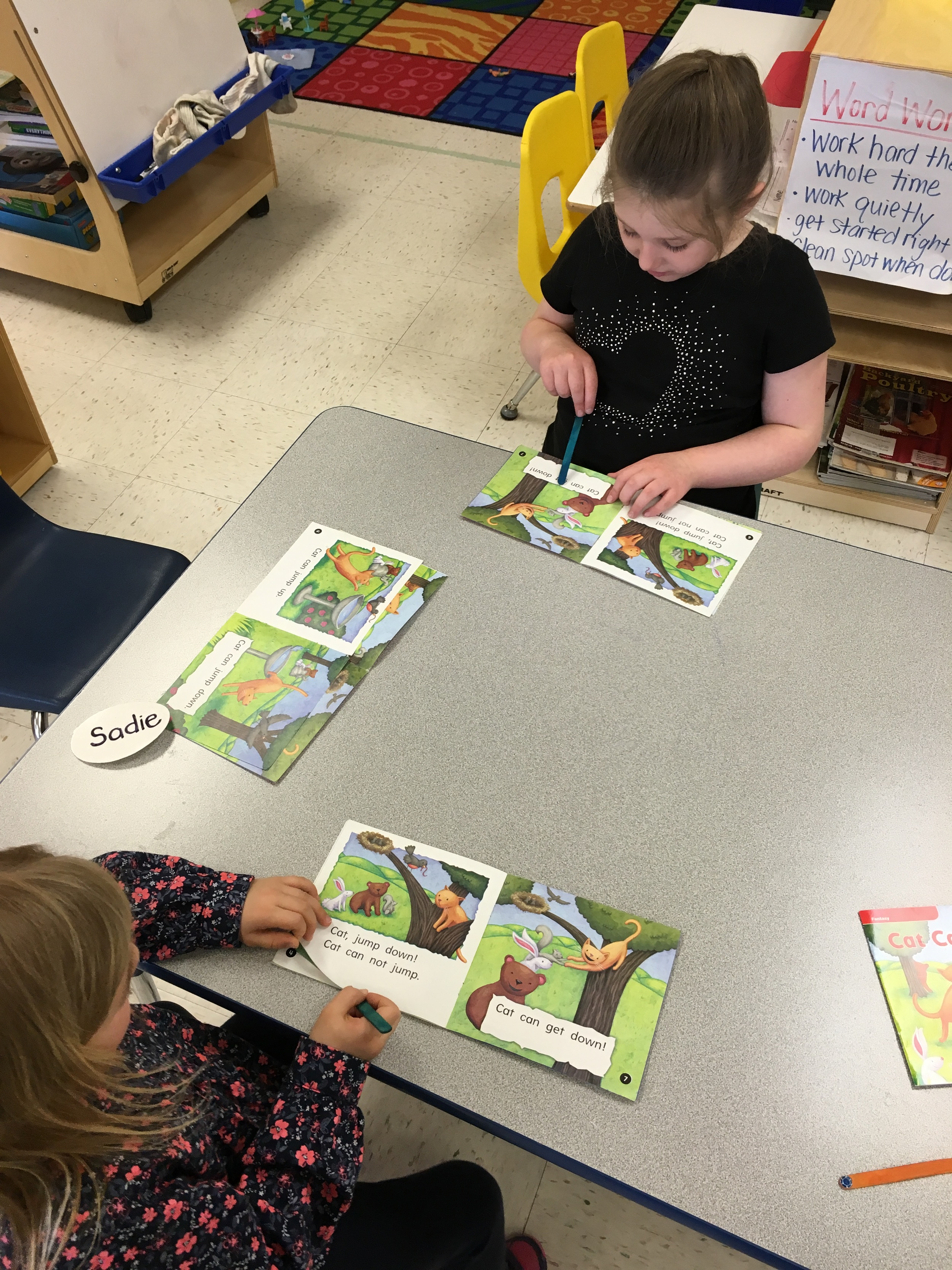 Reading in small groups!