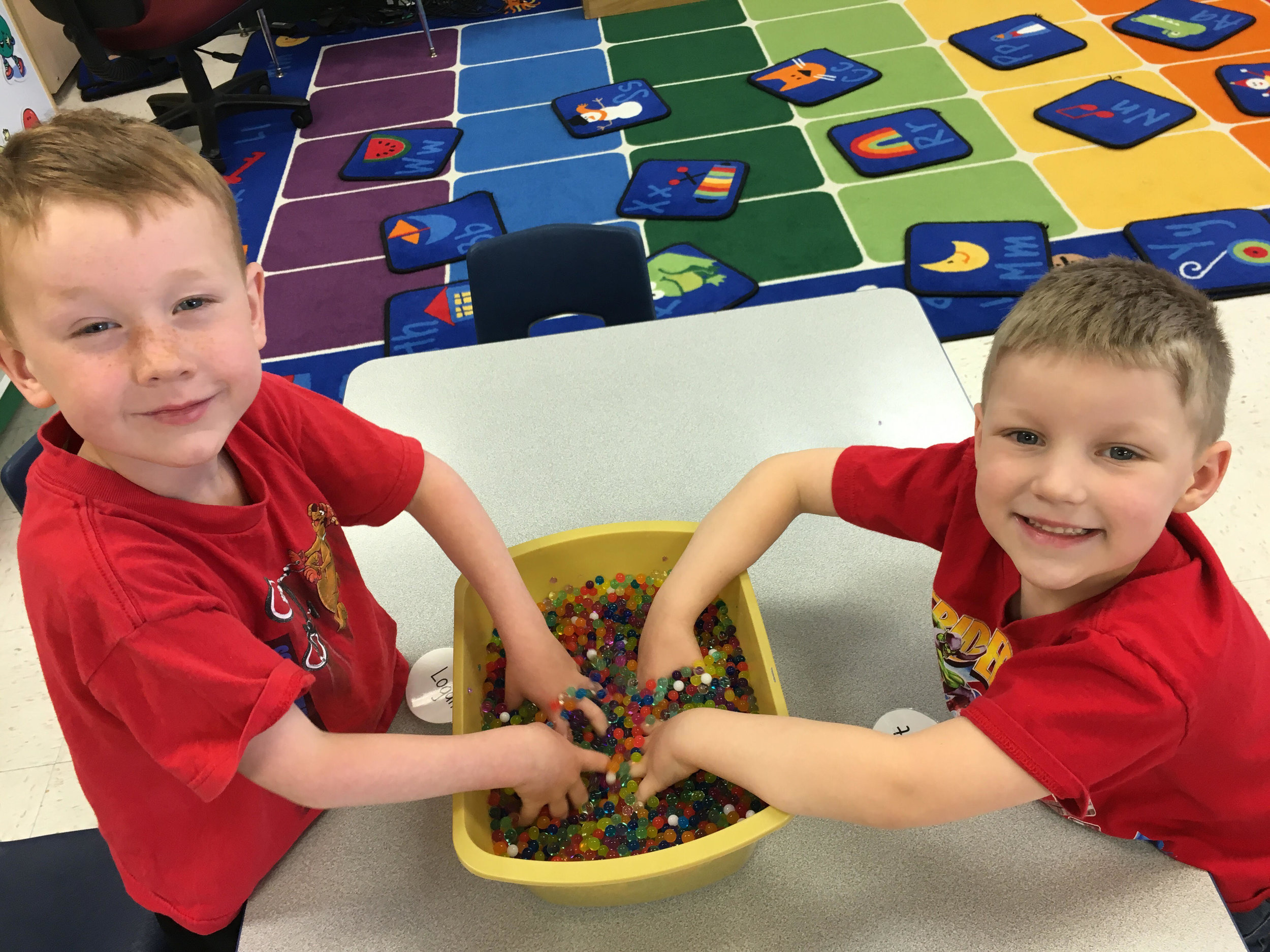 playing with water beads!